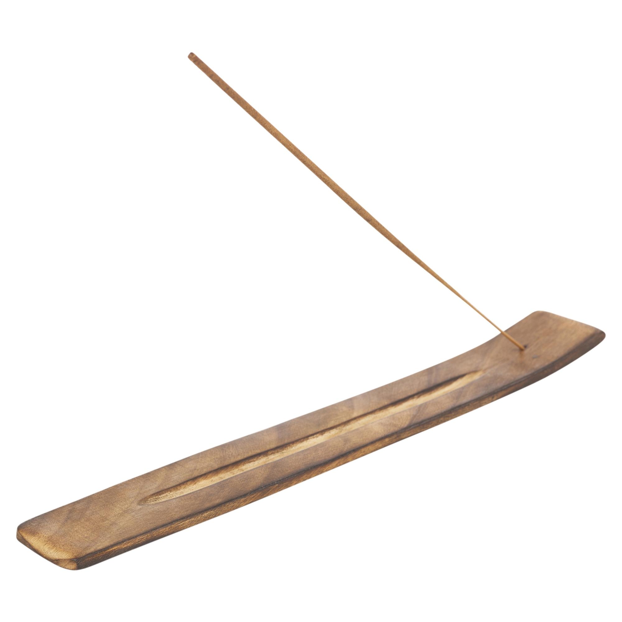 20 Wooden Incense Sticks Holder Set Burner Ash Catcher