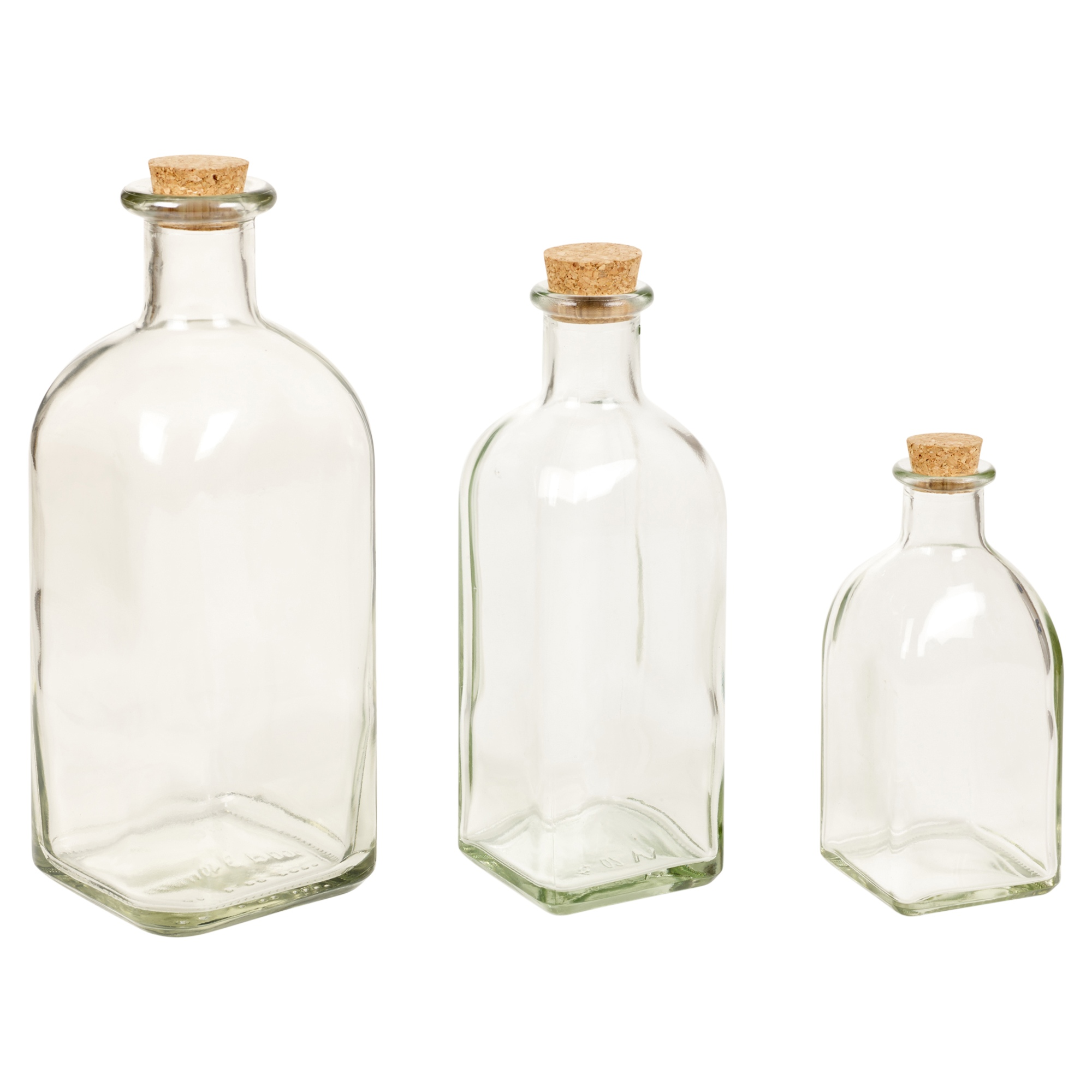 3 6 9 12 Glass Storage Bottle Jars Vials Cork Stopper Lid Kitchen