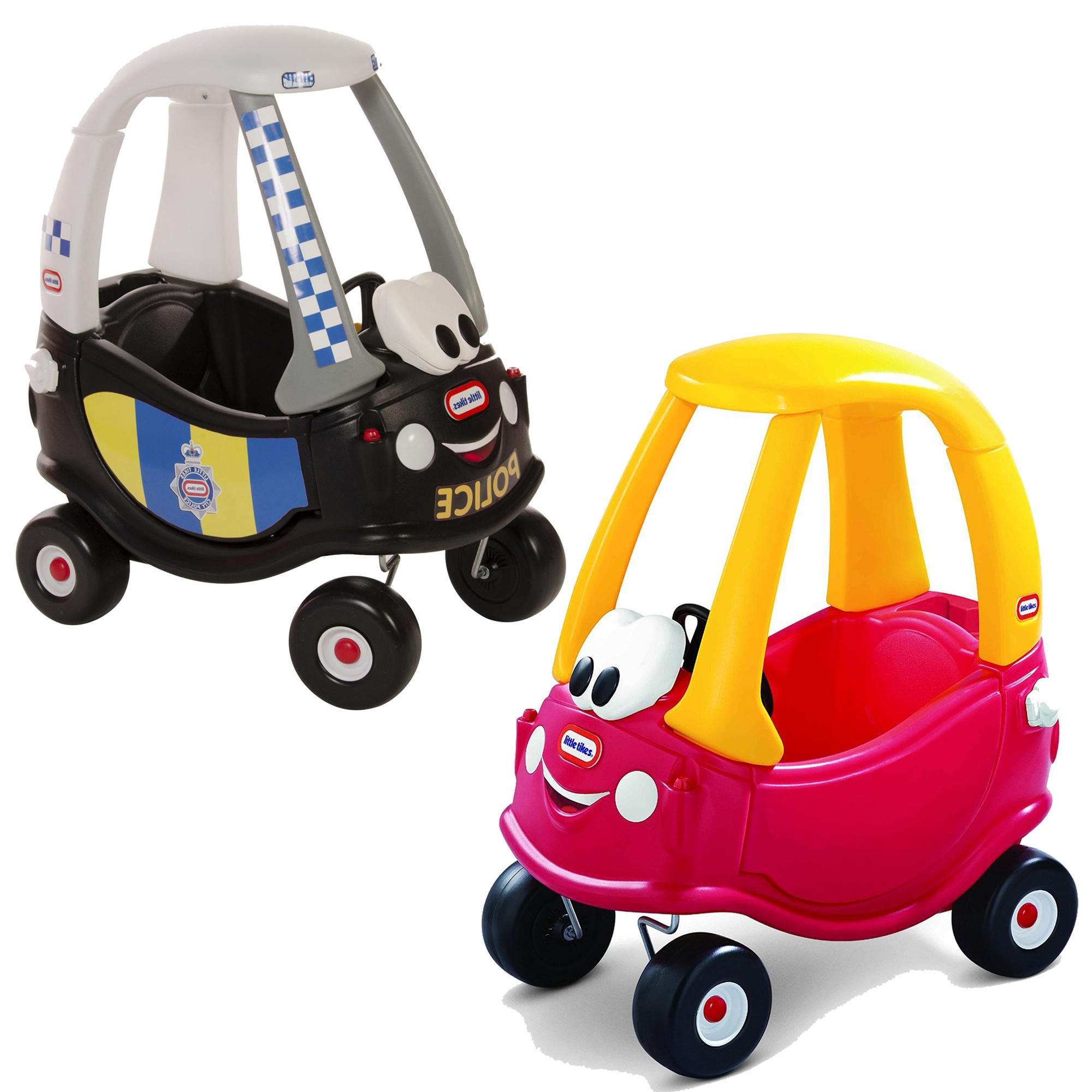 Little Tikes Red Cozy Coupe Police Ride On Car Kids Childs