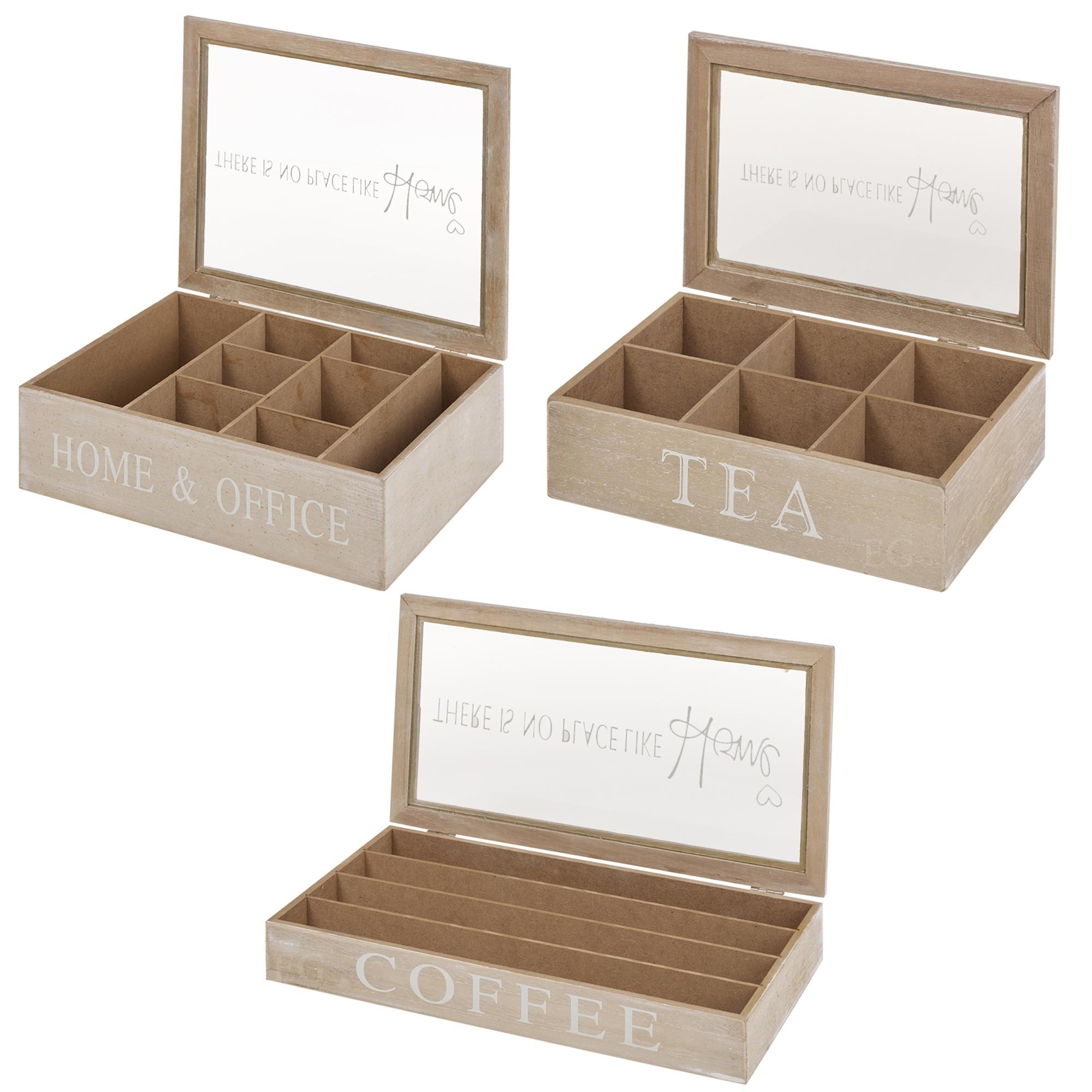 abbastanza In legno tè Scatole/caffè Porta-Capsule Contenitore Di Stoccaggio  KO57
