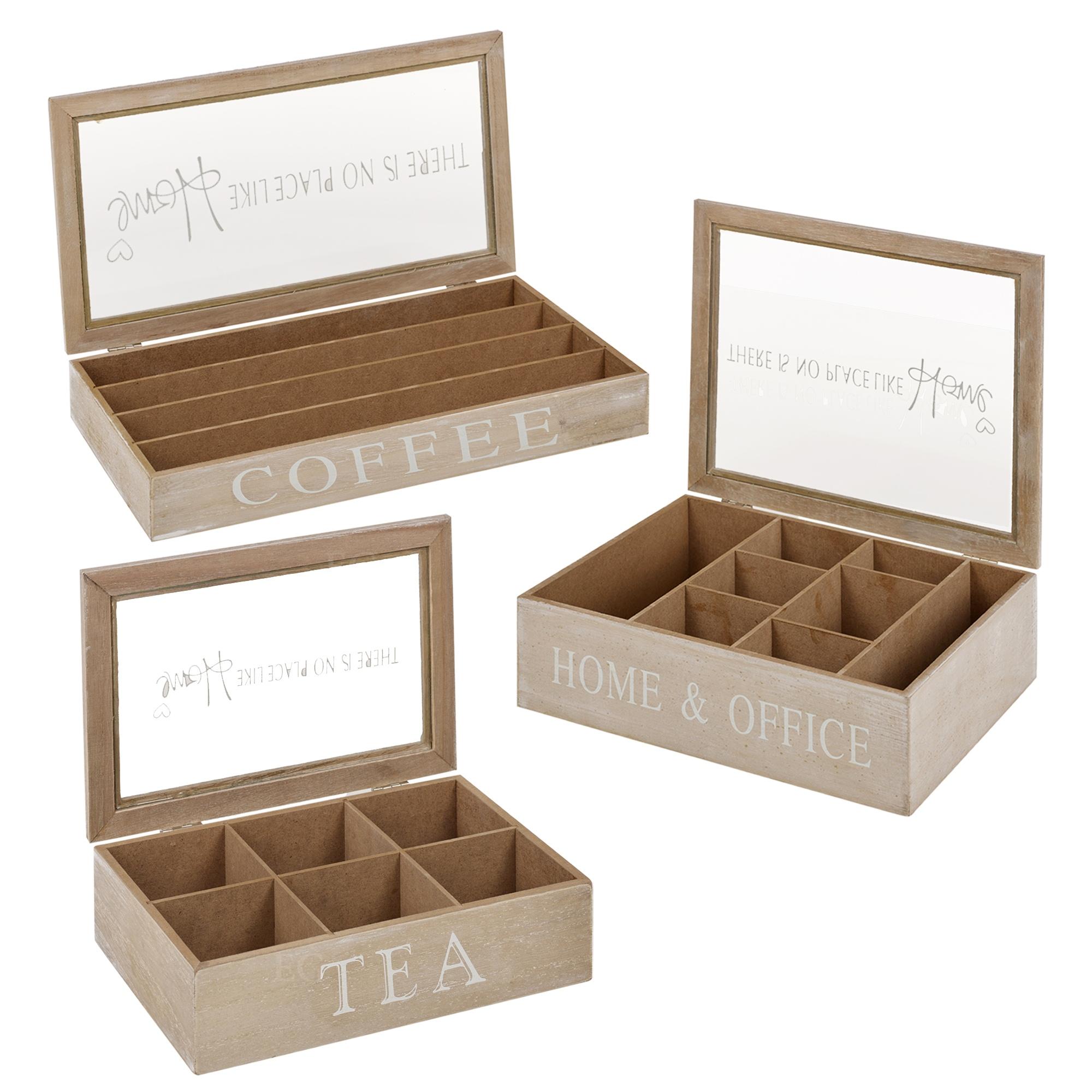 Popolare In legno tè Scatole/caffè Porta-Capsule Contenitore Di Stoccaggio  RL25