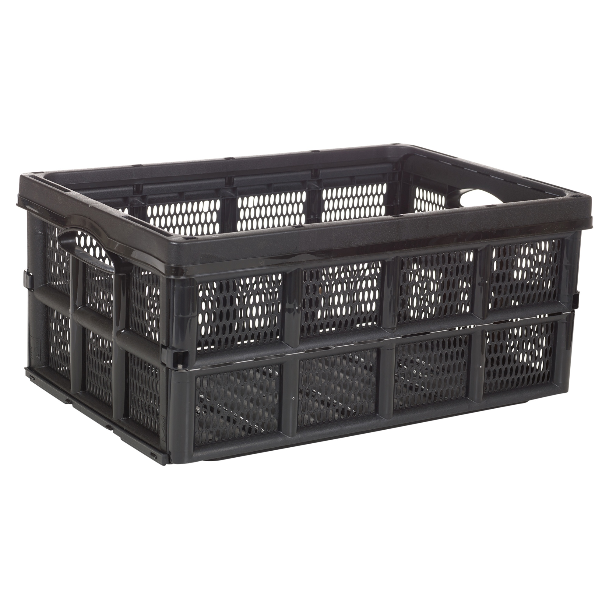 Collapsible 31 Litre Plastic Storage Crate Box Solution