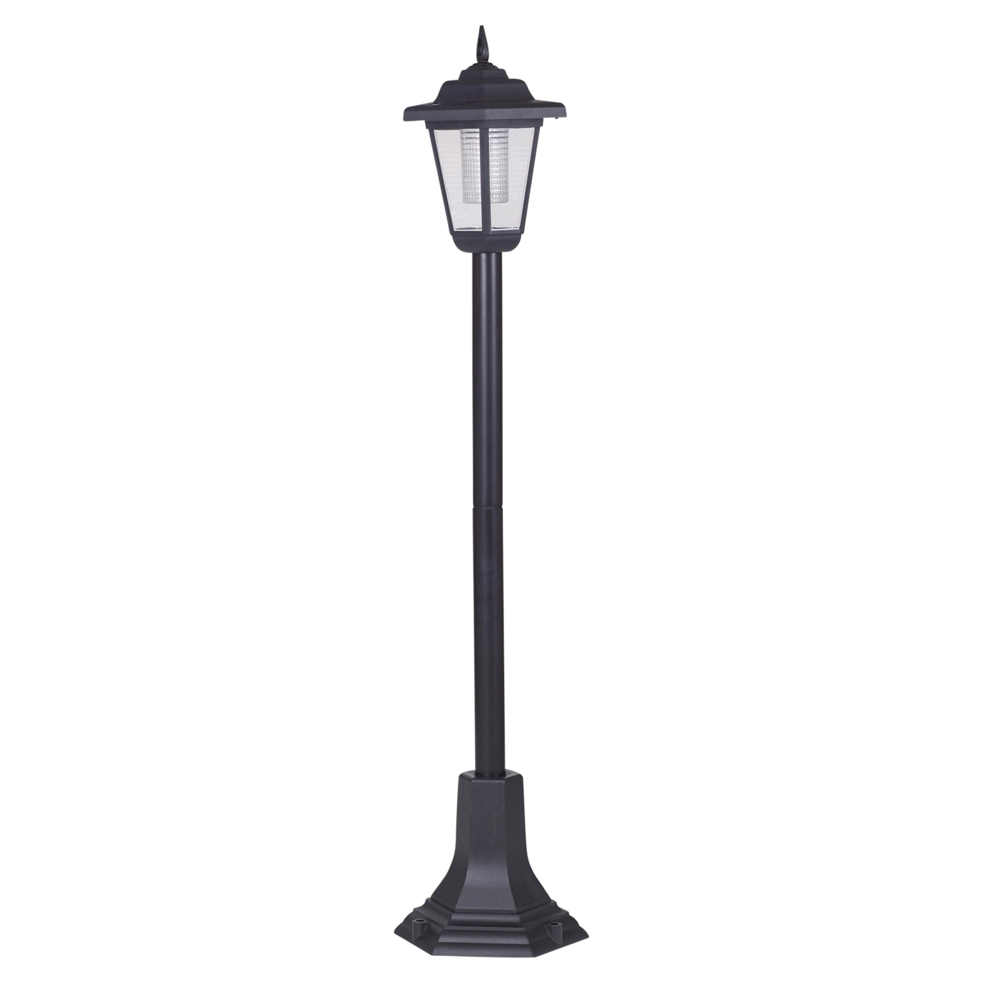 Solar Powered Garden Lights Lantern Lamp Black Led Pathway