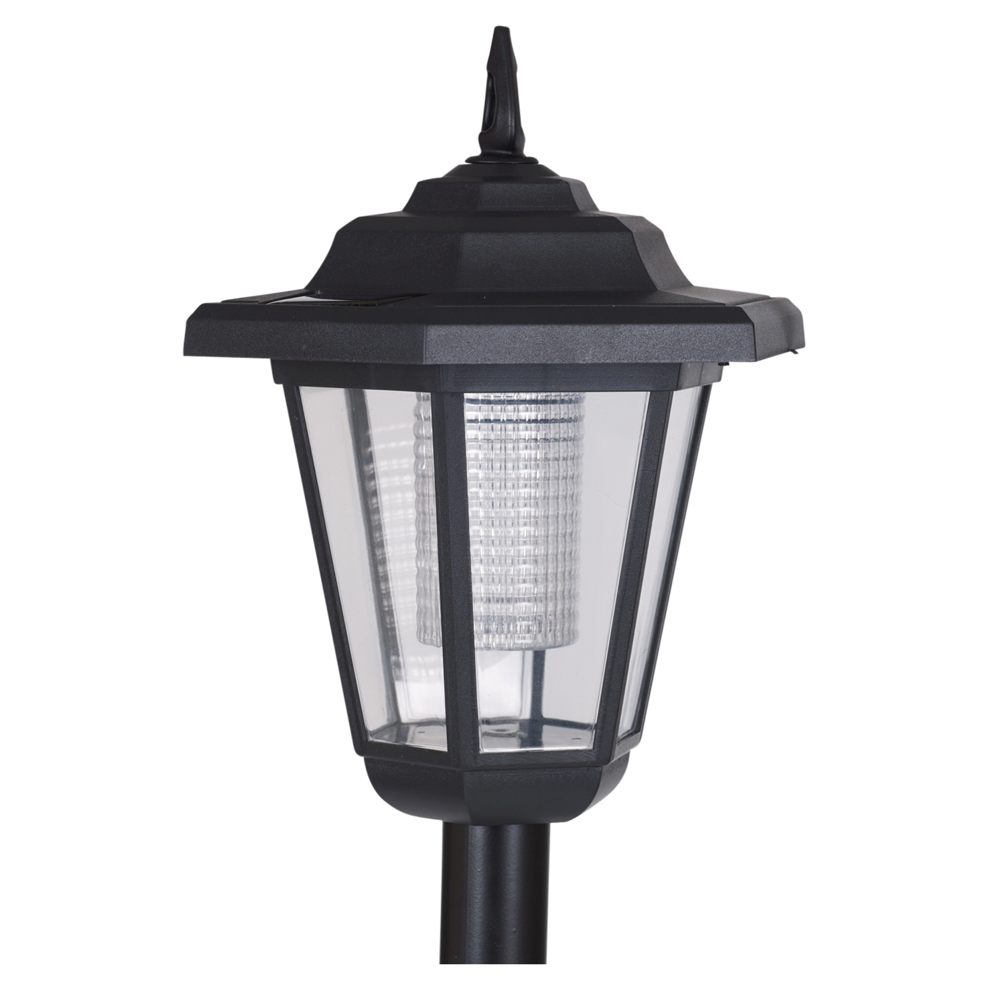 solar powered garden lights lantern lamp black led pathway driveway outdoor post. Black Bedroom Furniture Sets. Home Design Ideas