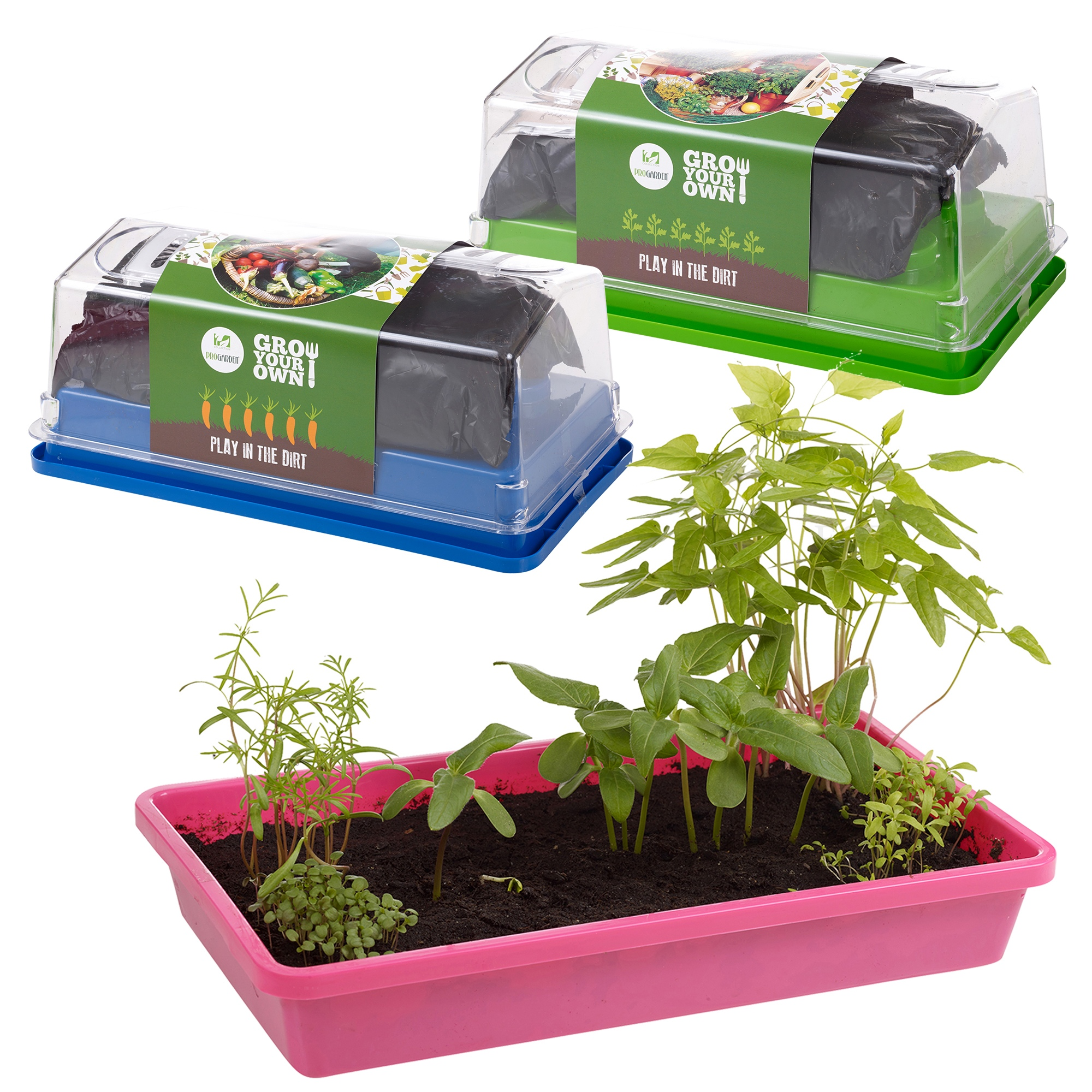 Indoor Propagator Home Grow Planter Kit Vegetables Herbs Flowers Seed Greenhouse   eBay