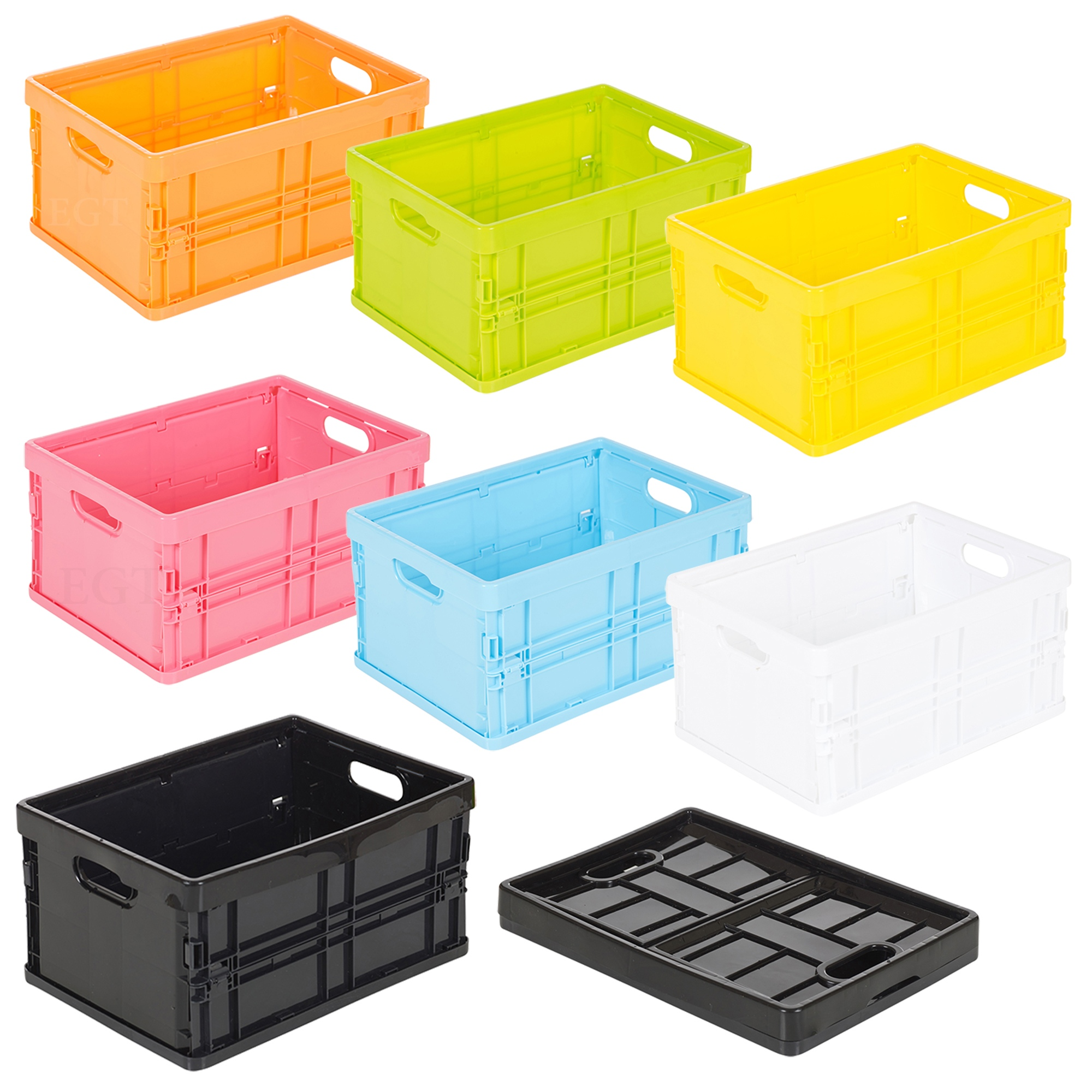 Small plastic storage collapsible boxes organiser sorter stackable bits bobs ebay - Petit jardin cosmetic solution villeurbanne ...