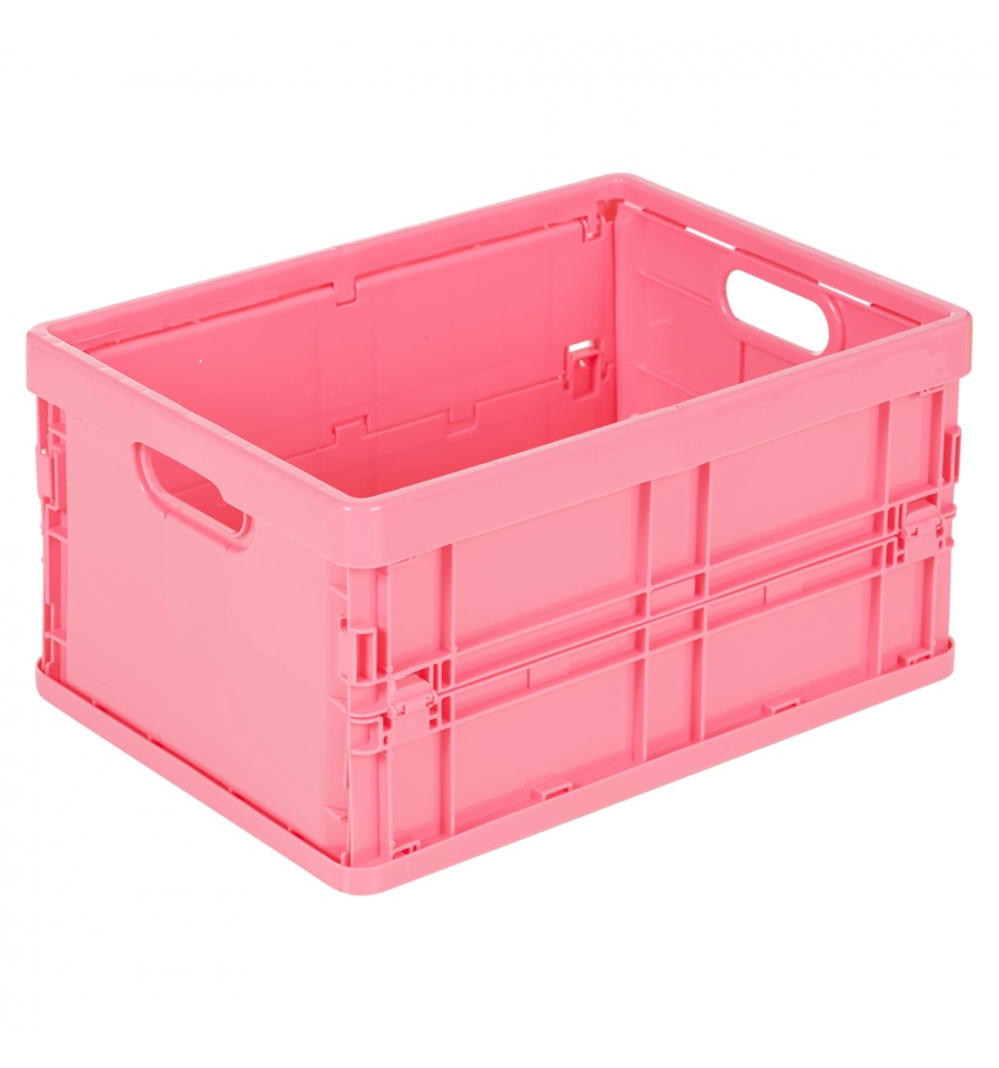 Storage Solutions Plastic Small Foldable Crate 328526 328540
