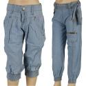 Lee Cooper Jeans - Girls Cuffed, Mid Blue [AC2925]