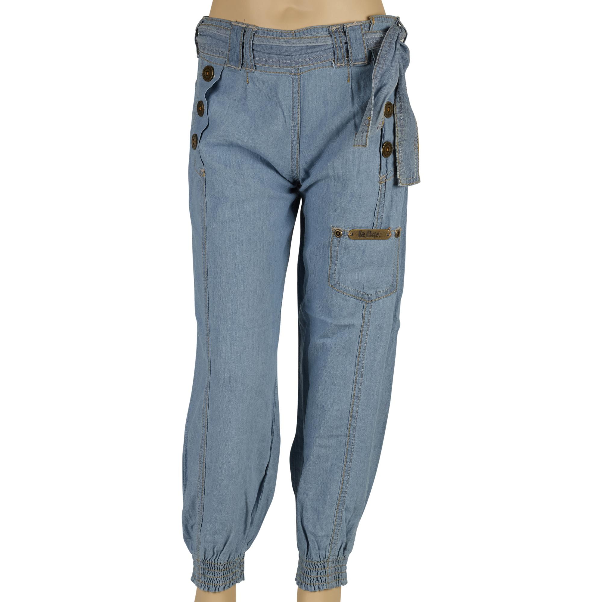 girls lee cooper designer denim jeans casual fashion trousers pants cuffed ankle ebay. Black Bedroom Furniture Sets. Home Design Ideas