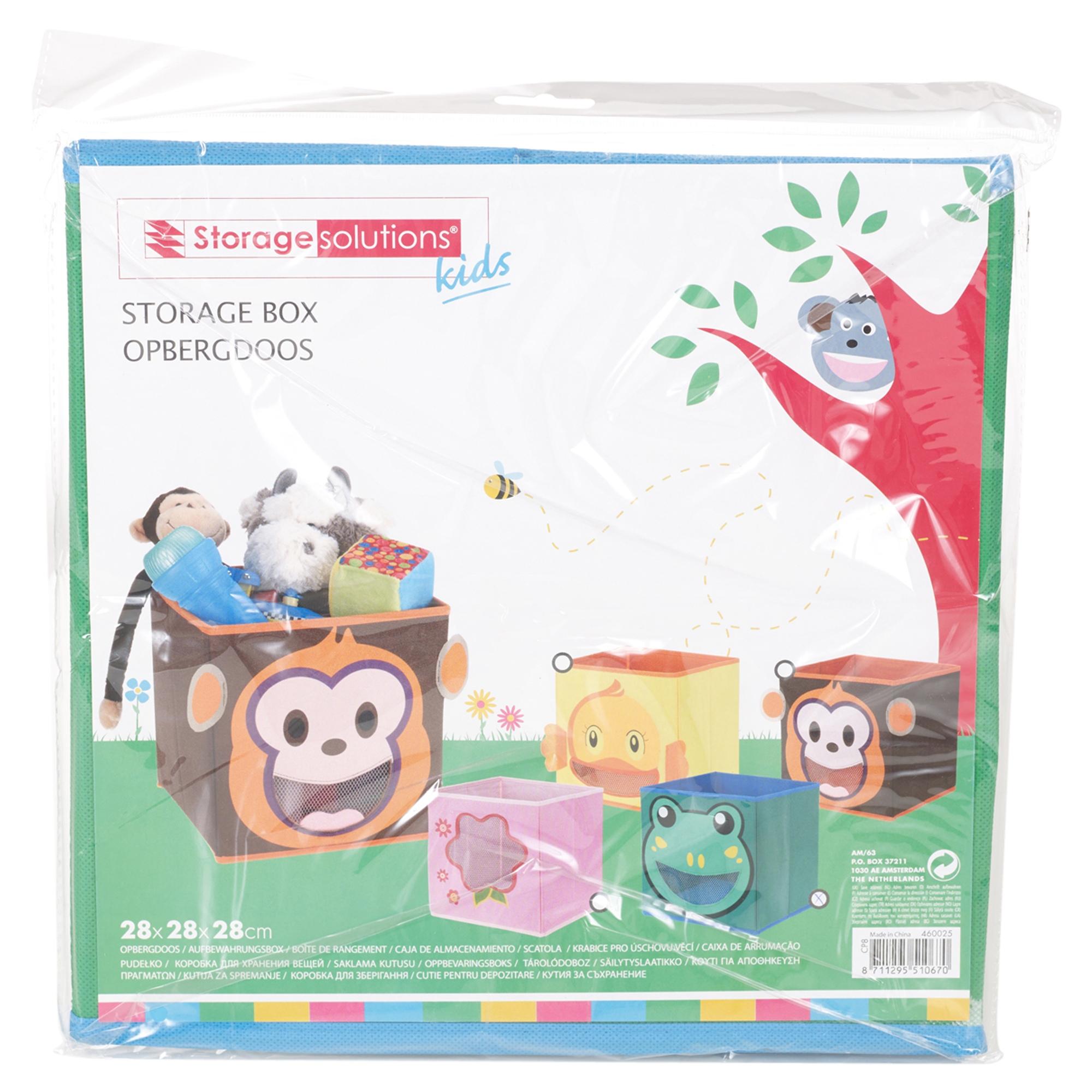Ni os juguetes animal caja almacenaje no tejidos tela apilables organizador ebay - Almacenaje juguetes ninos ...