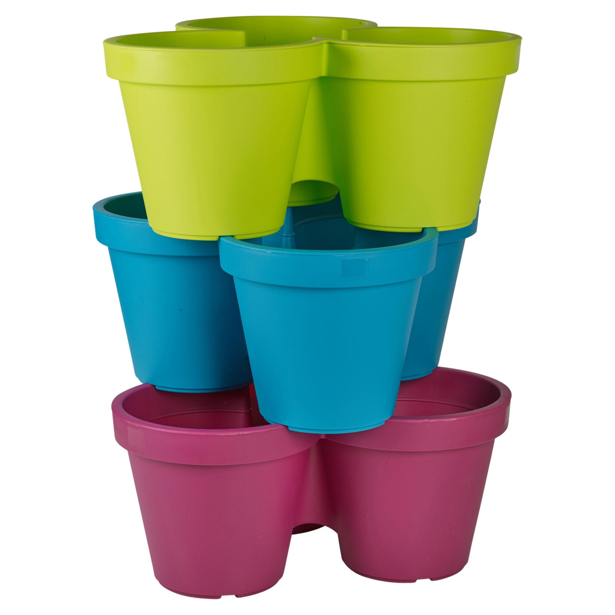 assorted plastic plant flower pot garden holder pots planter herb coloured new ebay. Black Bedroom Furniture Sets. Home Design Ideas