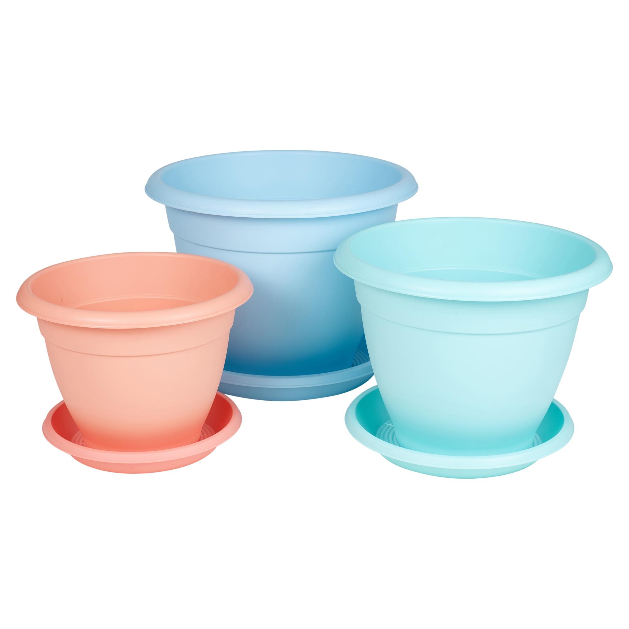 Buy Plant Pots Plastic Plant Flower Pot Garden Holder Pots