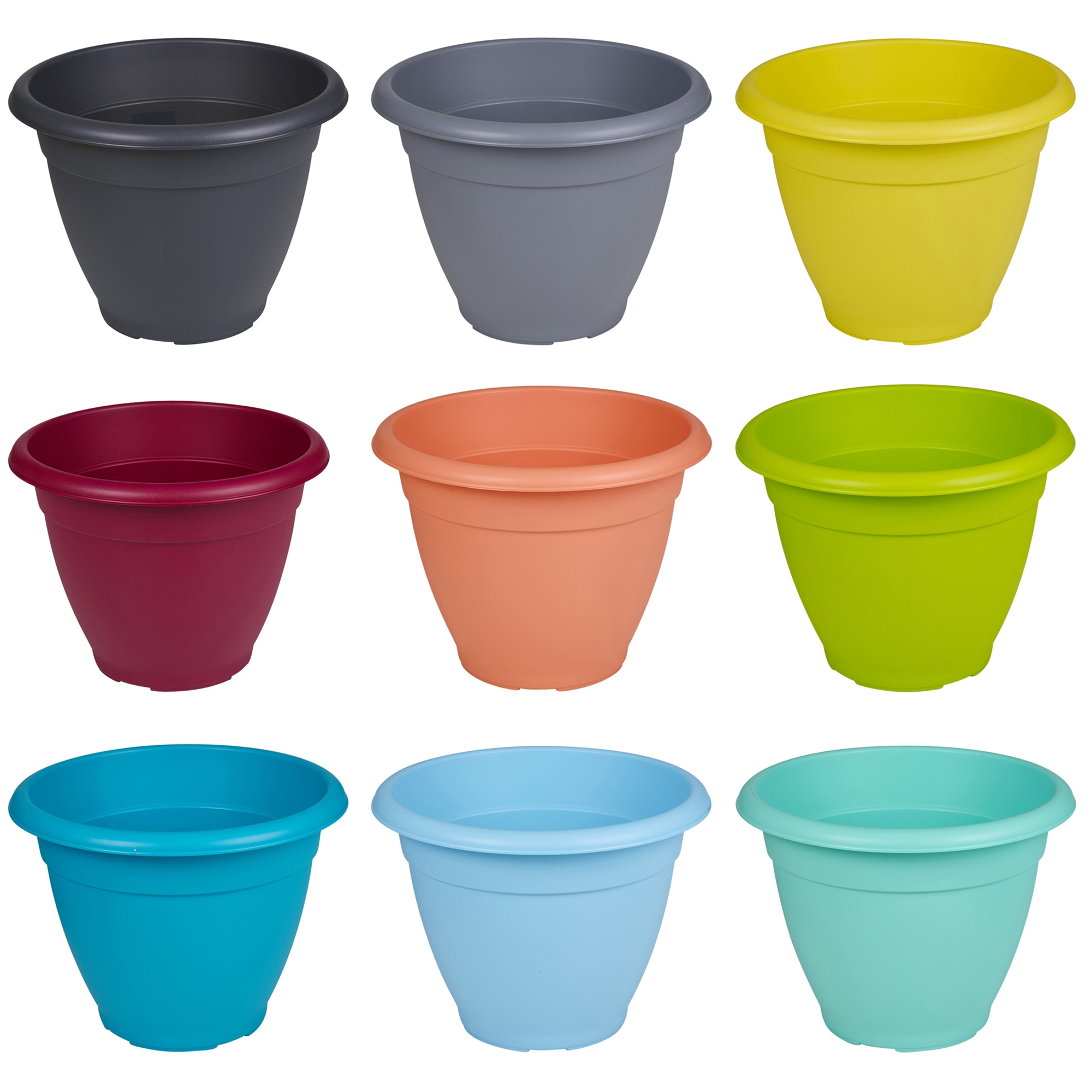 plastique plante pot de fleur jardin support pots herbe couleurs assorties neuf ebay. Black Bedroom Furniture Sets. Home Design Ideas