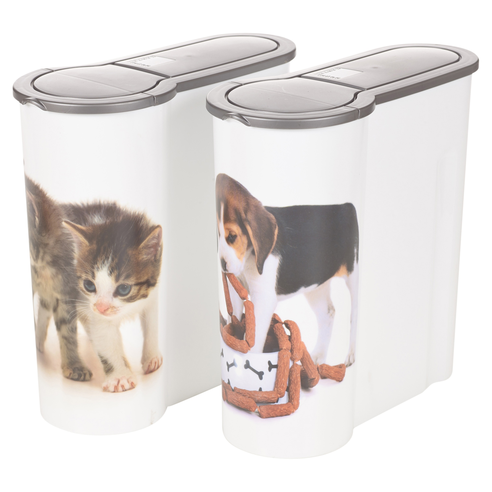 dog cat pet food storage container box bucket bin table top kitchen cereal style ebay. Black Bedroom Furniture Sets. Home Design Ideas
