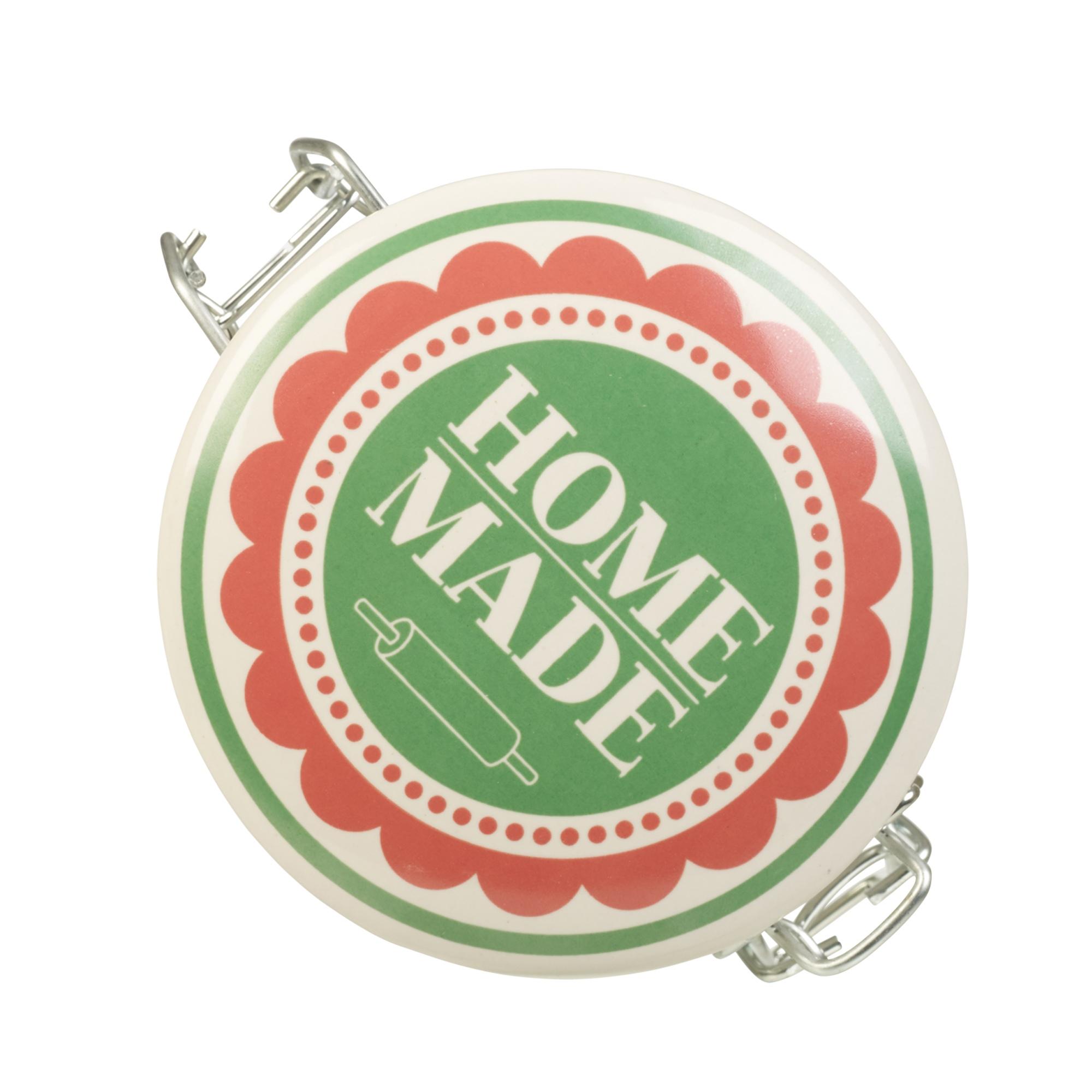 r tro bocal de stockage en verre collier en m tal herm tique joint en silicone ebay. Black Bedroom Furniture Sets. Home Design Ideas