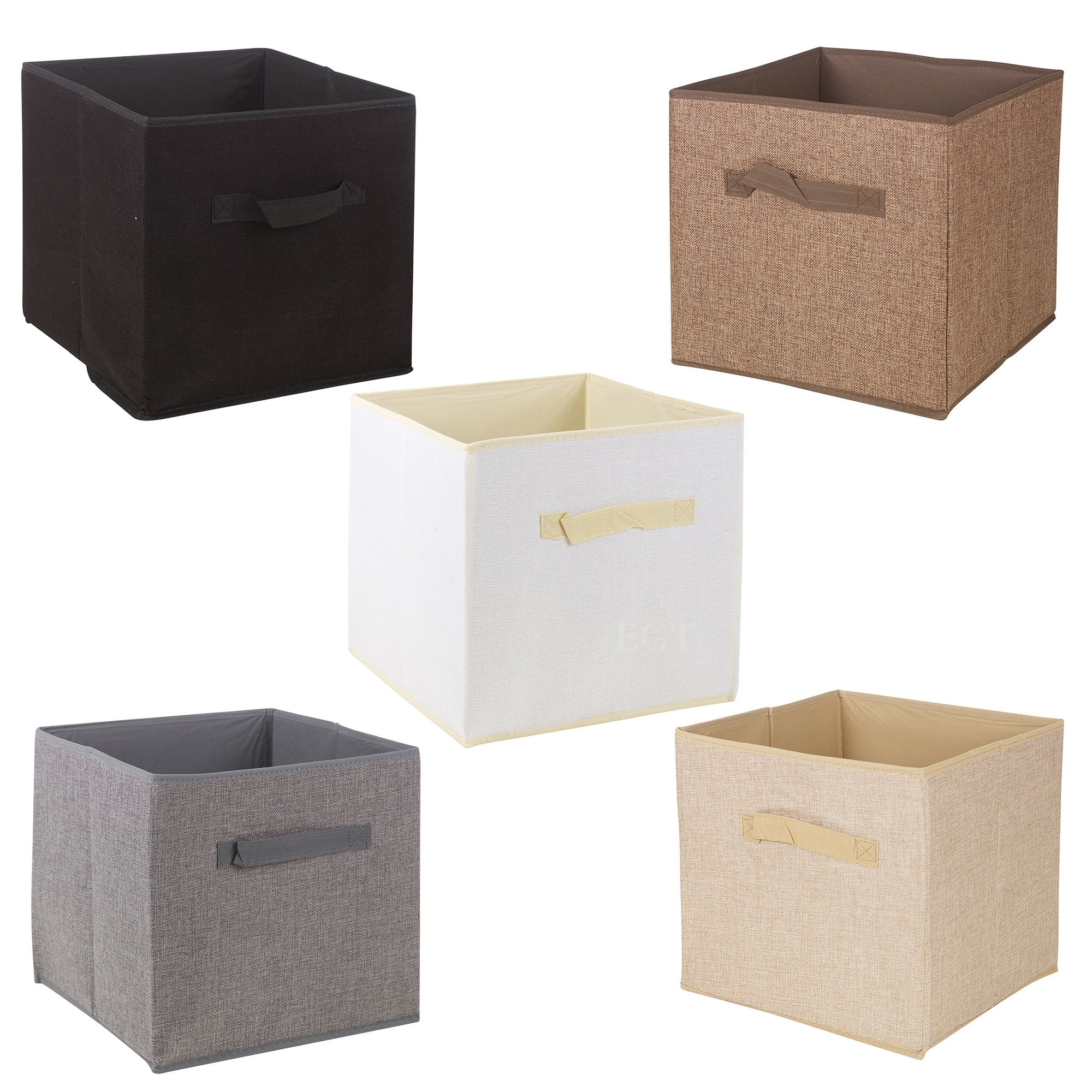 collapsible storage boxes cube woven kids toys carry handles bits bobs organise ebay. Black Bedroom Furniture Sets. Home Design Ideas