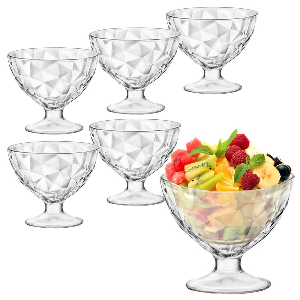 6 Bormioli Rocco Ice Cream Sundae Glasses Appetizer