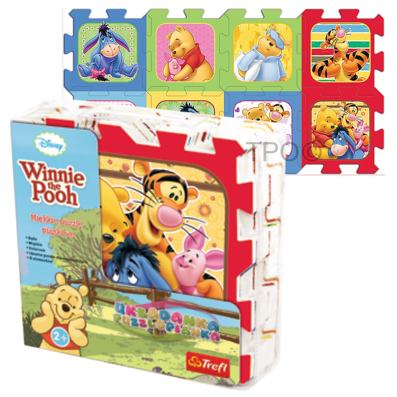 Trefl 8 Piece Baby Kids Infant Soft Foam Mat Winnie The