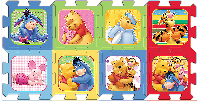 Trefl 8 Piece Baby Kids Infant Soft Foam Mat Winnie The