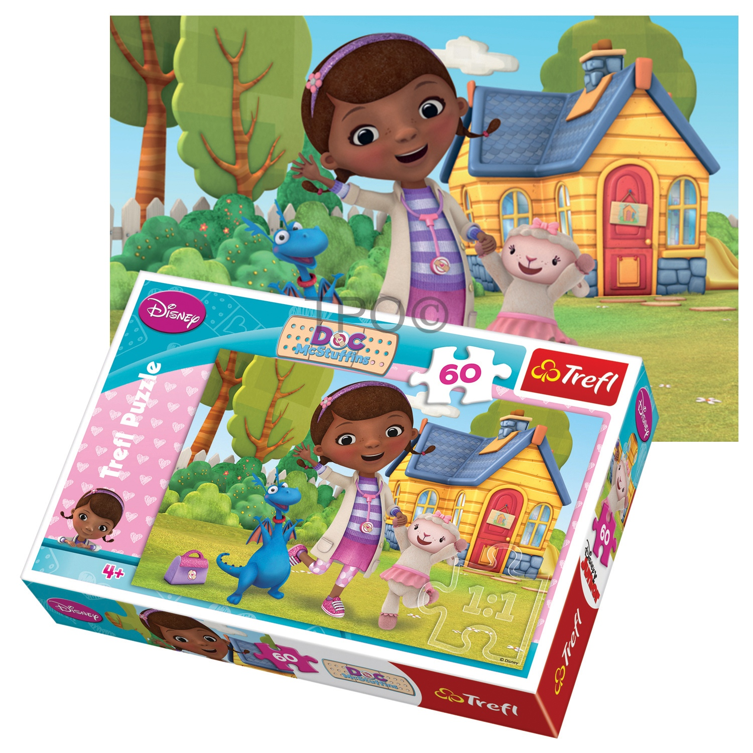 Disney The Doc Is In 4 Piece Doc Mcstuffins Toddler: Trefl 60 Piece Kids Girls Disney Doc McStuffins Doctor