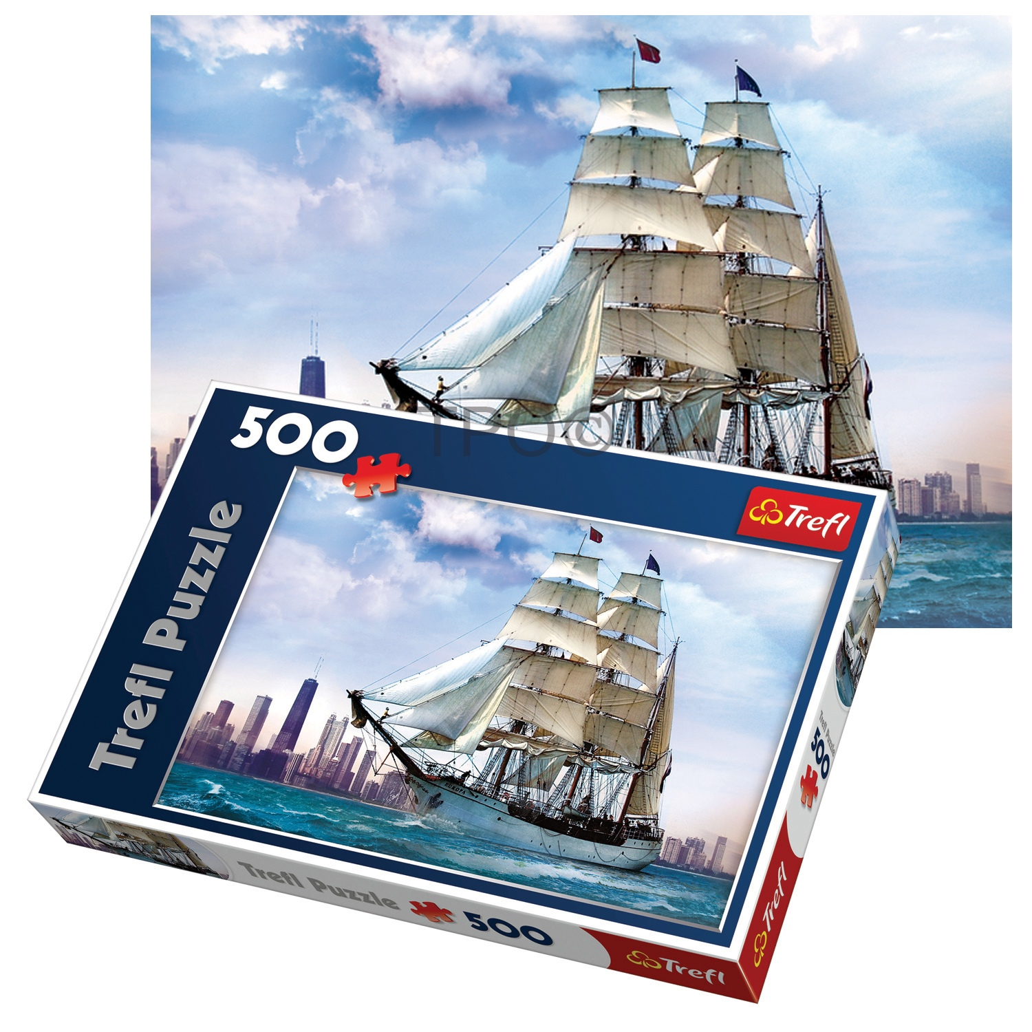 Trefl 500 Piece Adult Large Chicago Ship Sailing Sea Floor