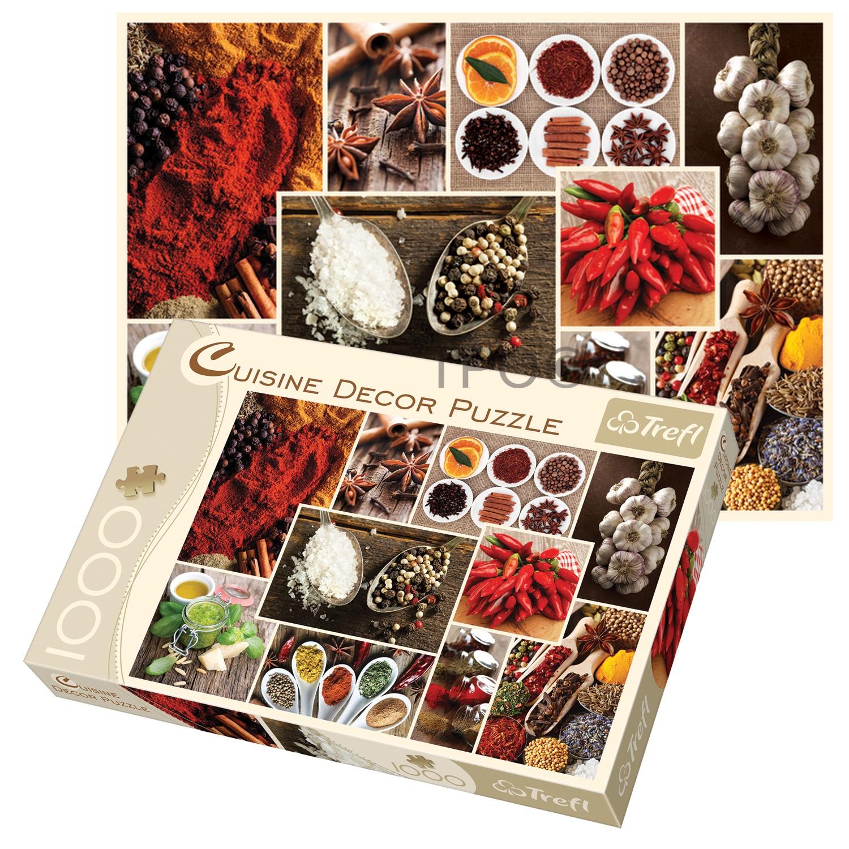 trefl 1000 piece cuisine decor spices collage adult large floor jigsaw puzzle 5900511103588 ebay. Black Bedroom Furniture Sets. Home Design Ideas