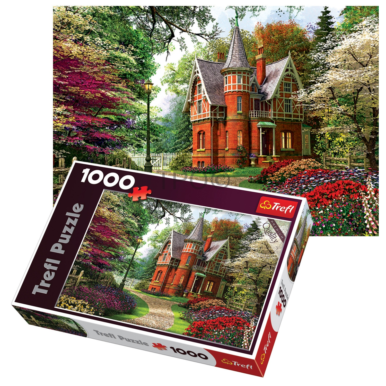 Trefl 1000 Piece Adult Large Victorian Cottage Floor