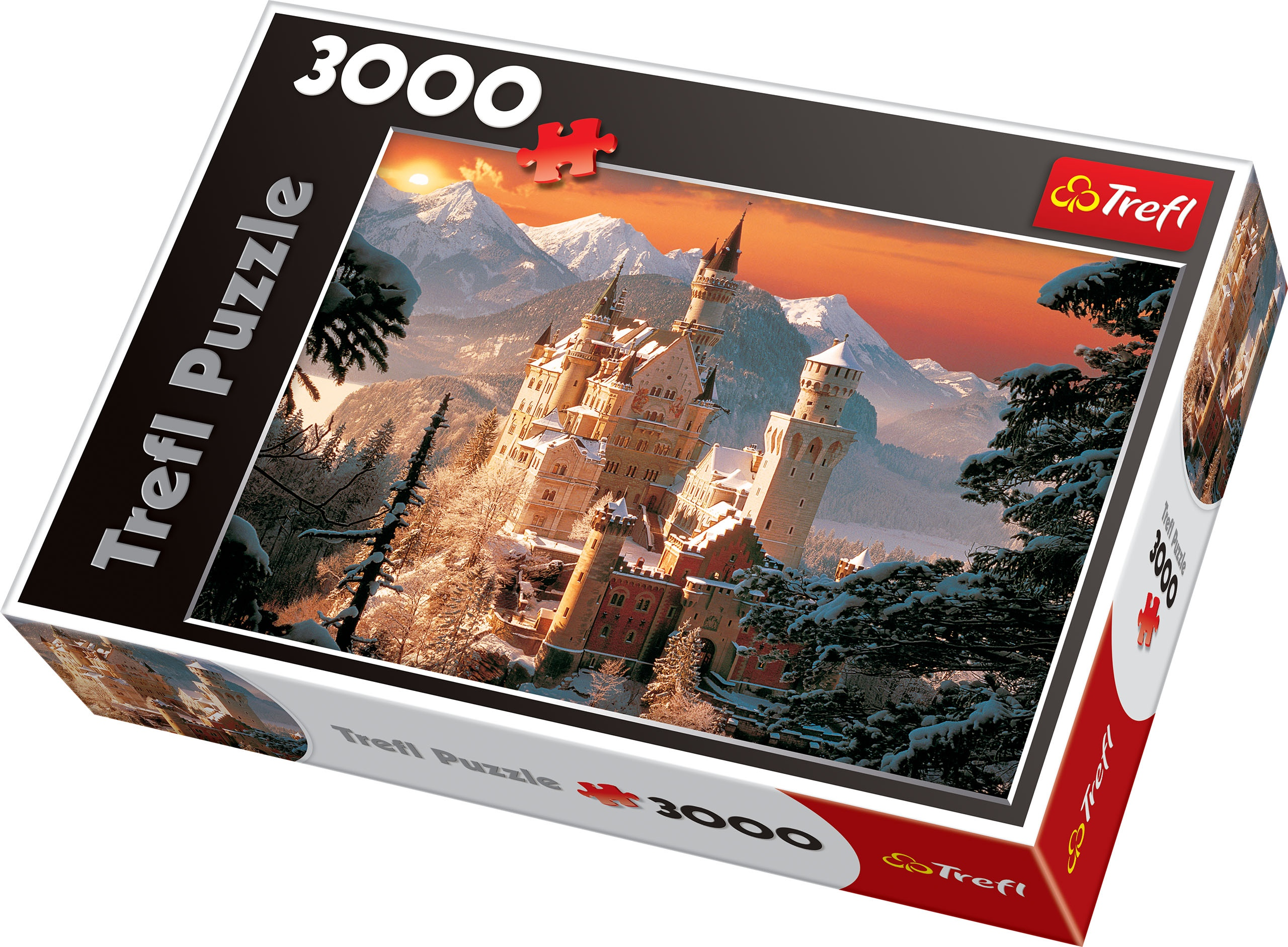 trefl 3000 piece adult large neuschwanstein castle germany. Black Bedroom Furniture Sets. Home Design Ideas