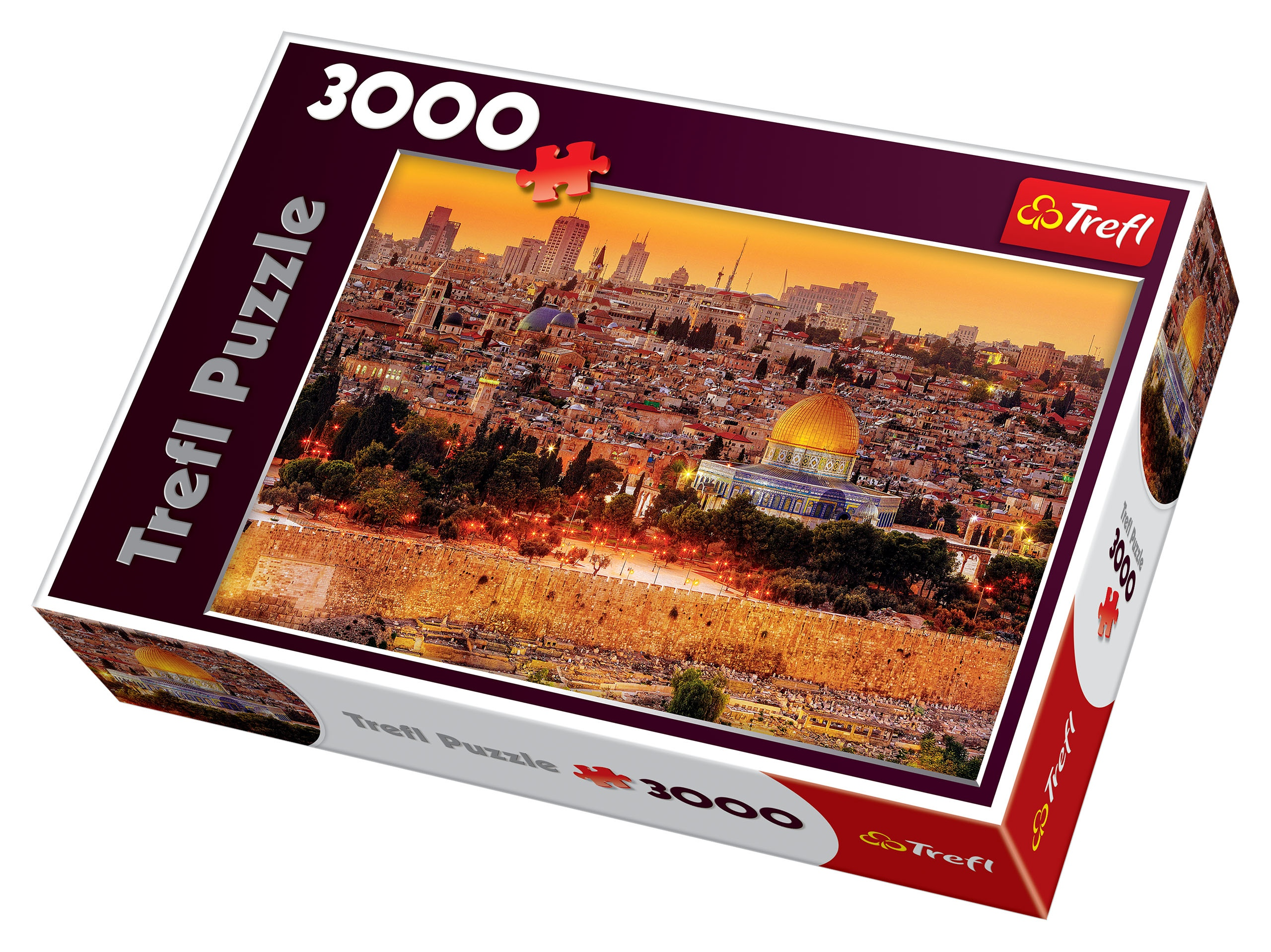 trefl 3000 piece adult large jerusalem roofs view israel holy jigsaw puzzle new 5900511330328 ebay. Black Bedroom Furniture Sets. Home Design Ideas
