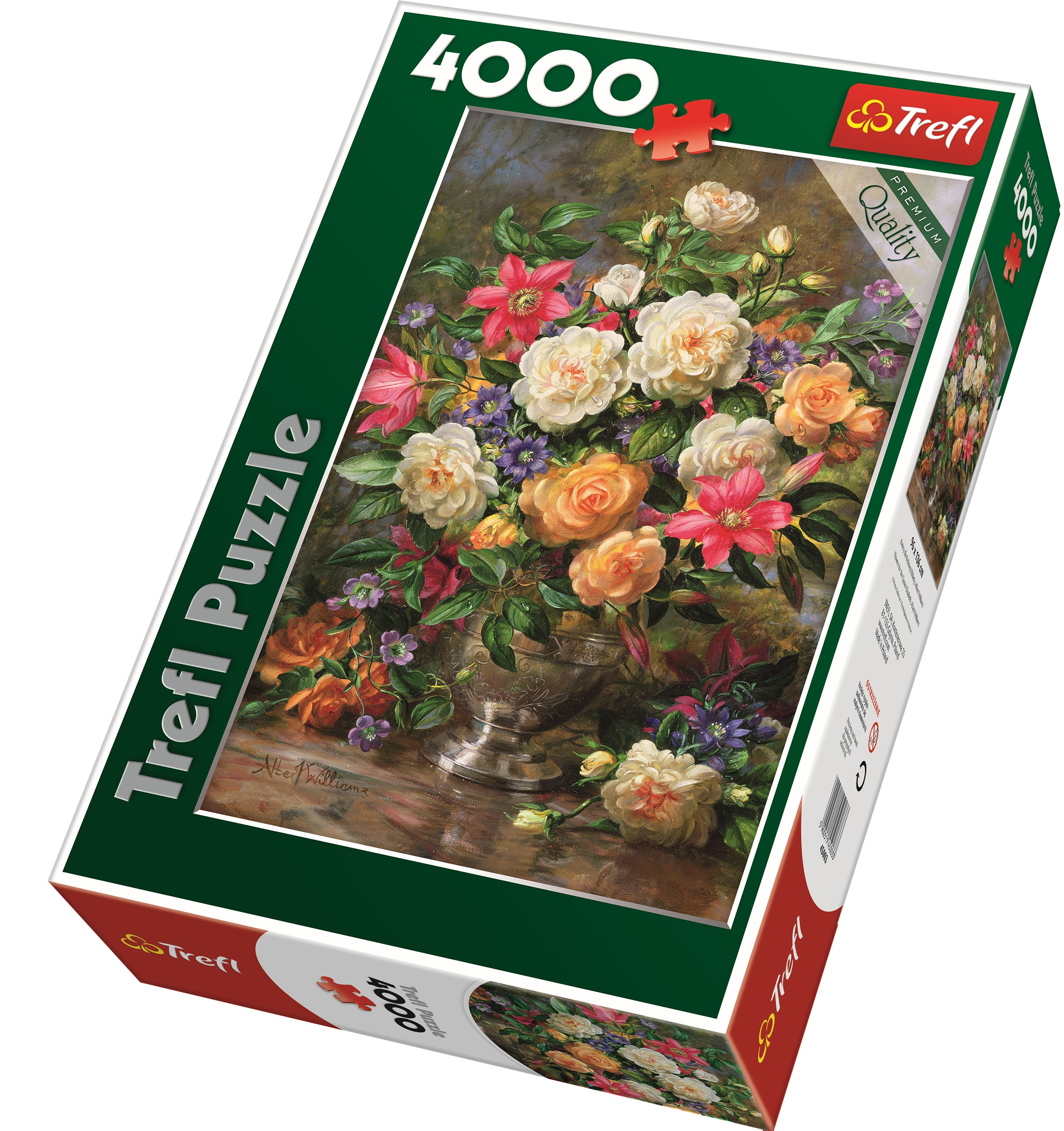 trefl 4000 piece adult large flowers queen elizabeth vase floor jigsaw puzzle ebay. Black Bedroom Furniture Sets. Home Design Ideas