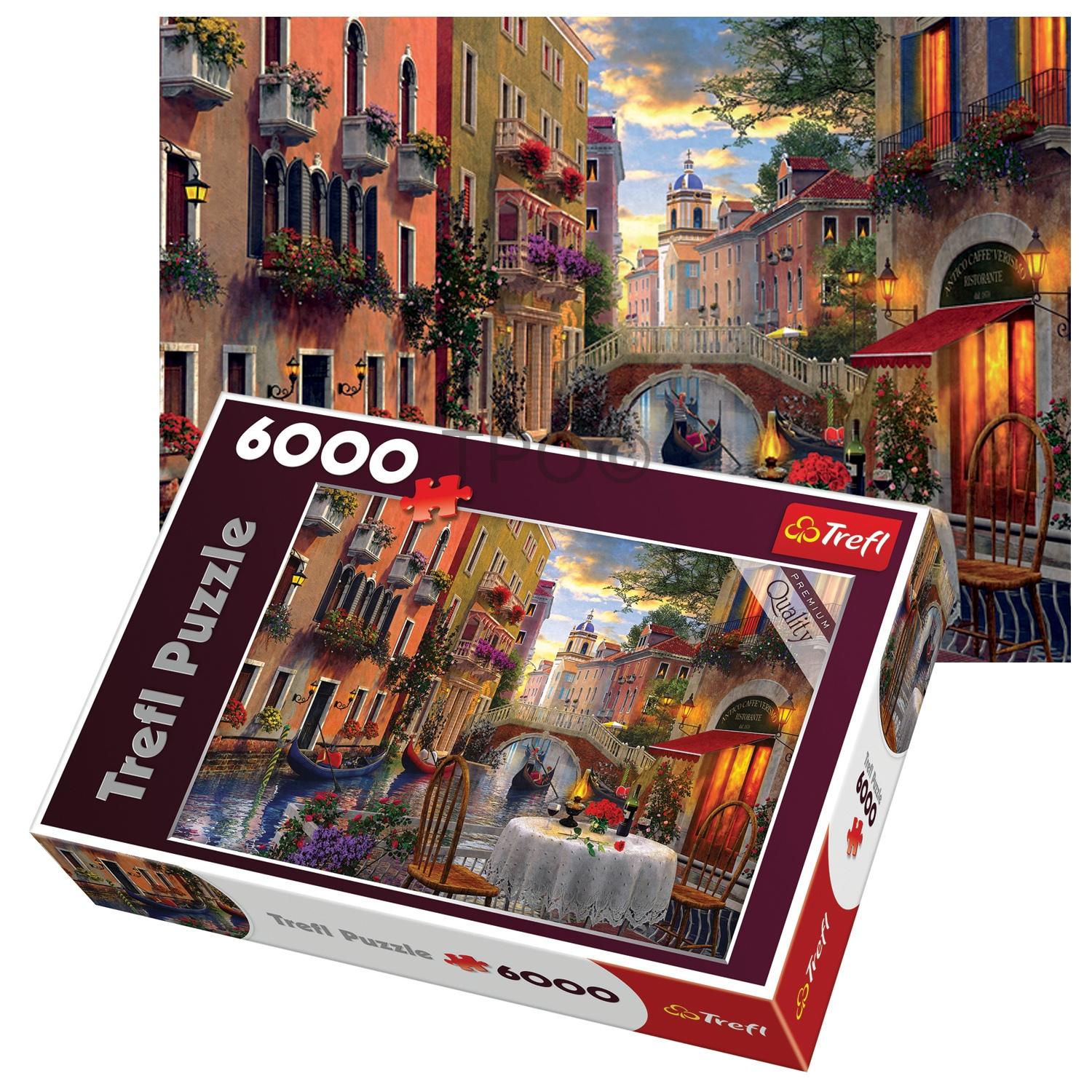 Trefl 6000 Piece Adult Large Romantic Venice Supper Meal