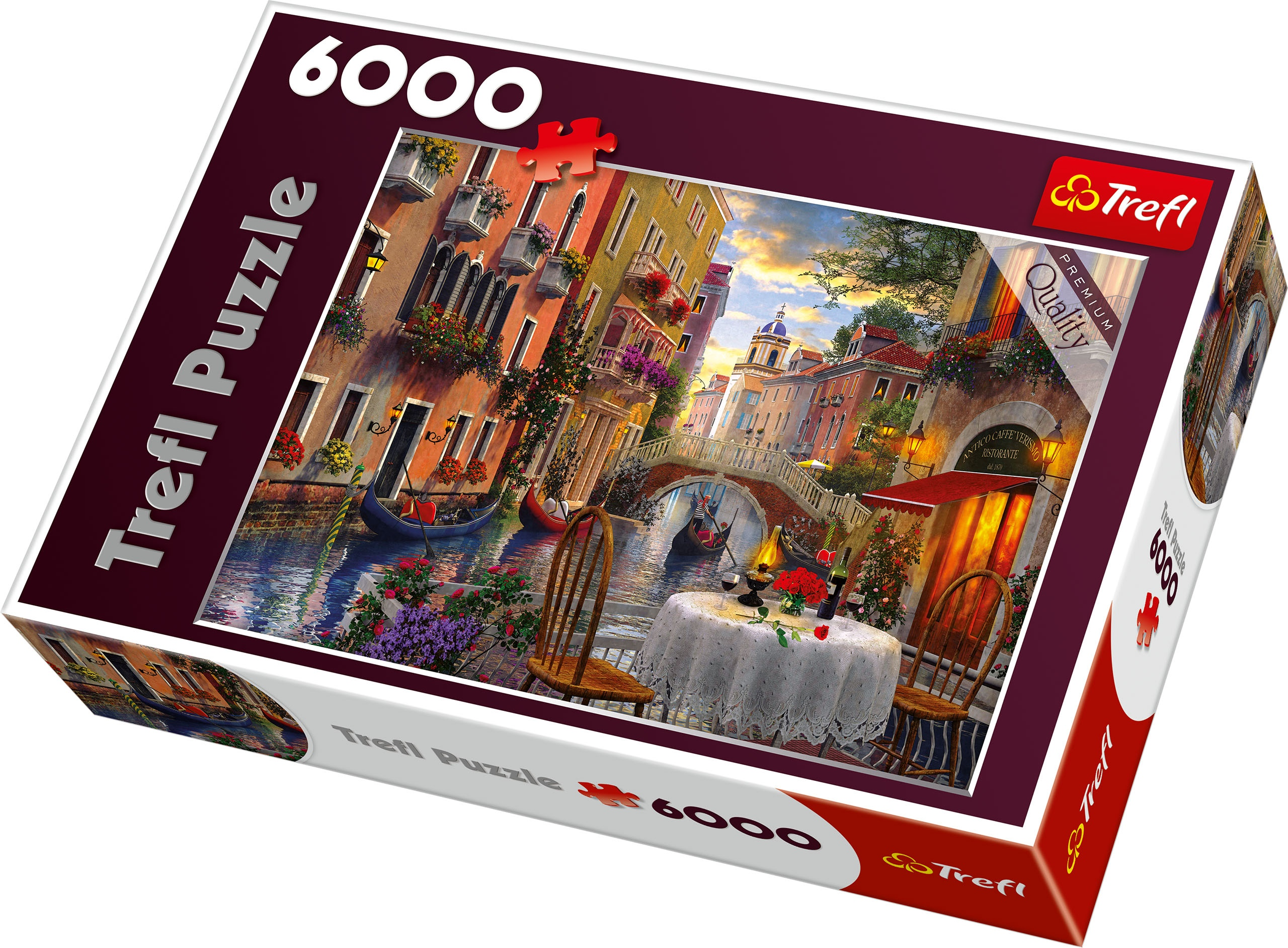 Trefl 6000 Piece Adult Large Romantic Venice Supper Meal