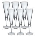 Set of 6 Bormioli Rocco 11cl Ypsilon Champagne Flute [035865]