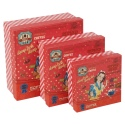Gift Box 3Pc Red Square Vintage Girl Print [445320]