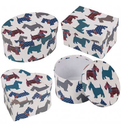 Gift Box 3Pc Shapes W/ Lid