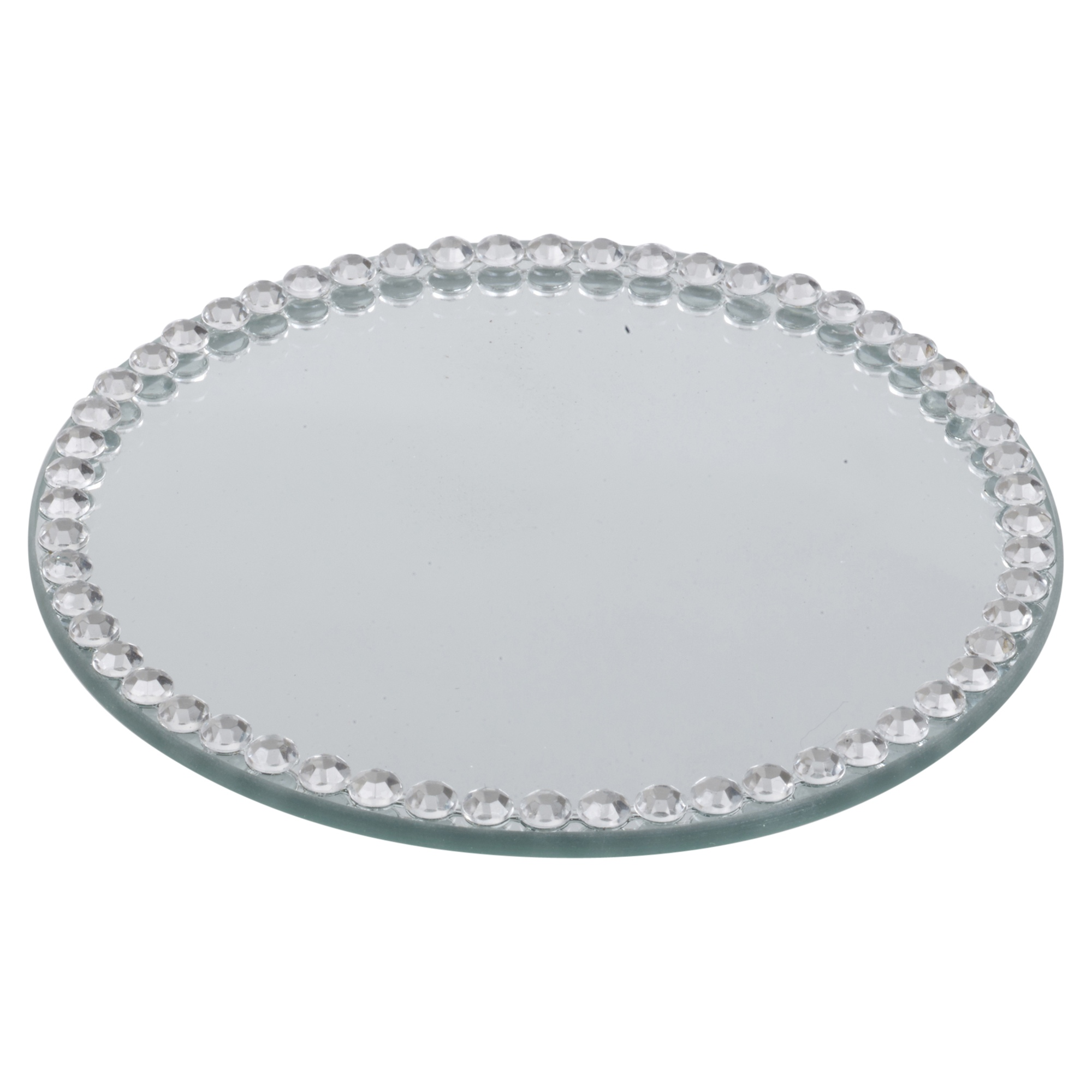 Round Or Square Diamond Mirror Candle Plate Cake Stand