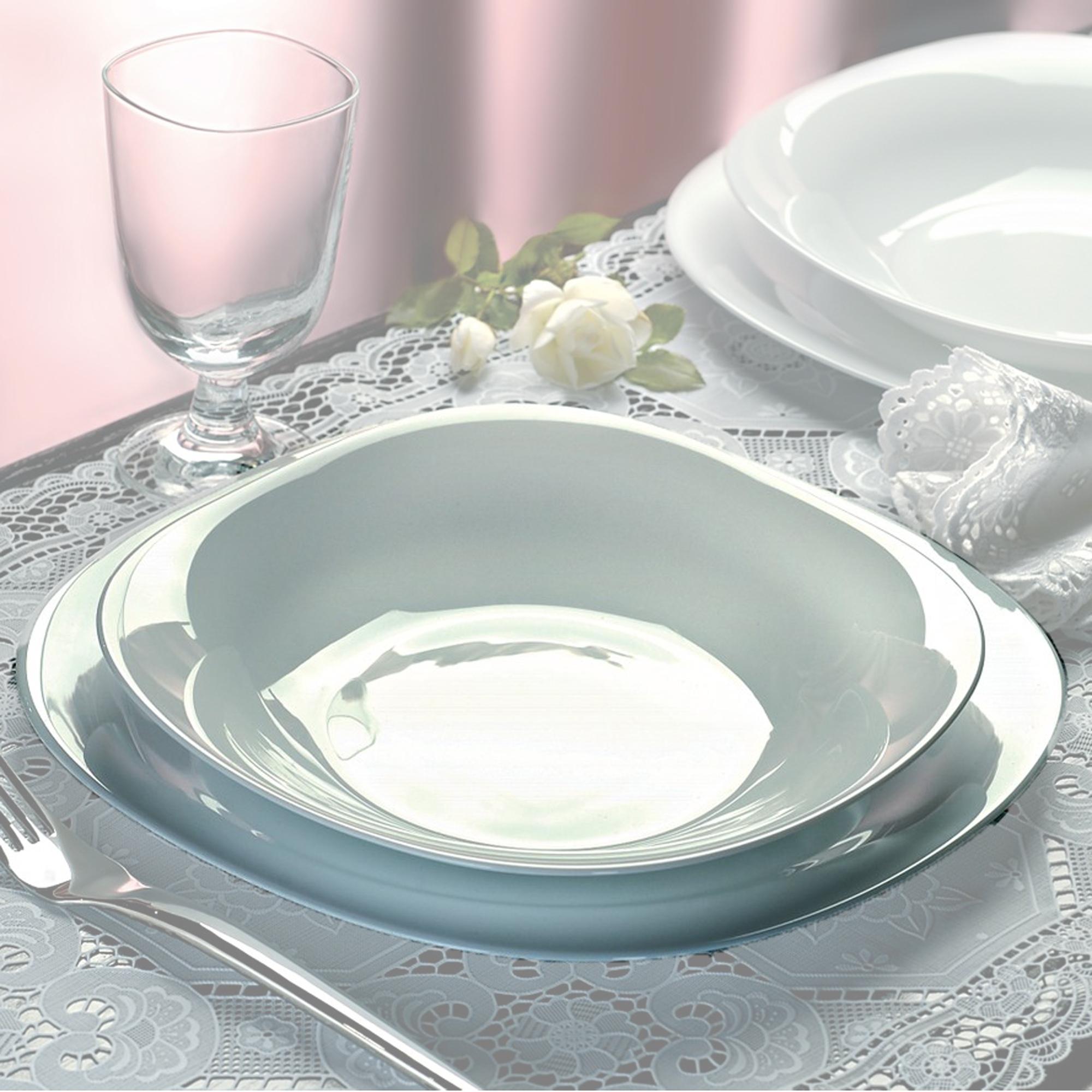 8411712559403  sc 1 st  eBay & Bormioli Rocco Parma 19 Pcs Dinner Service Set Opal Glass Tableware ...