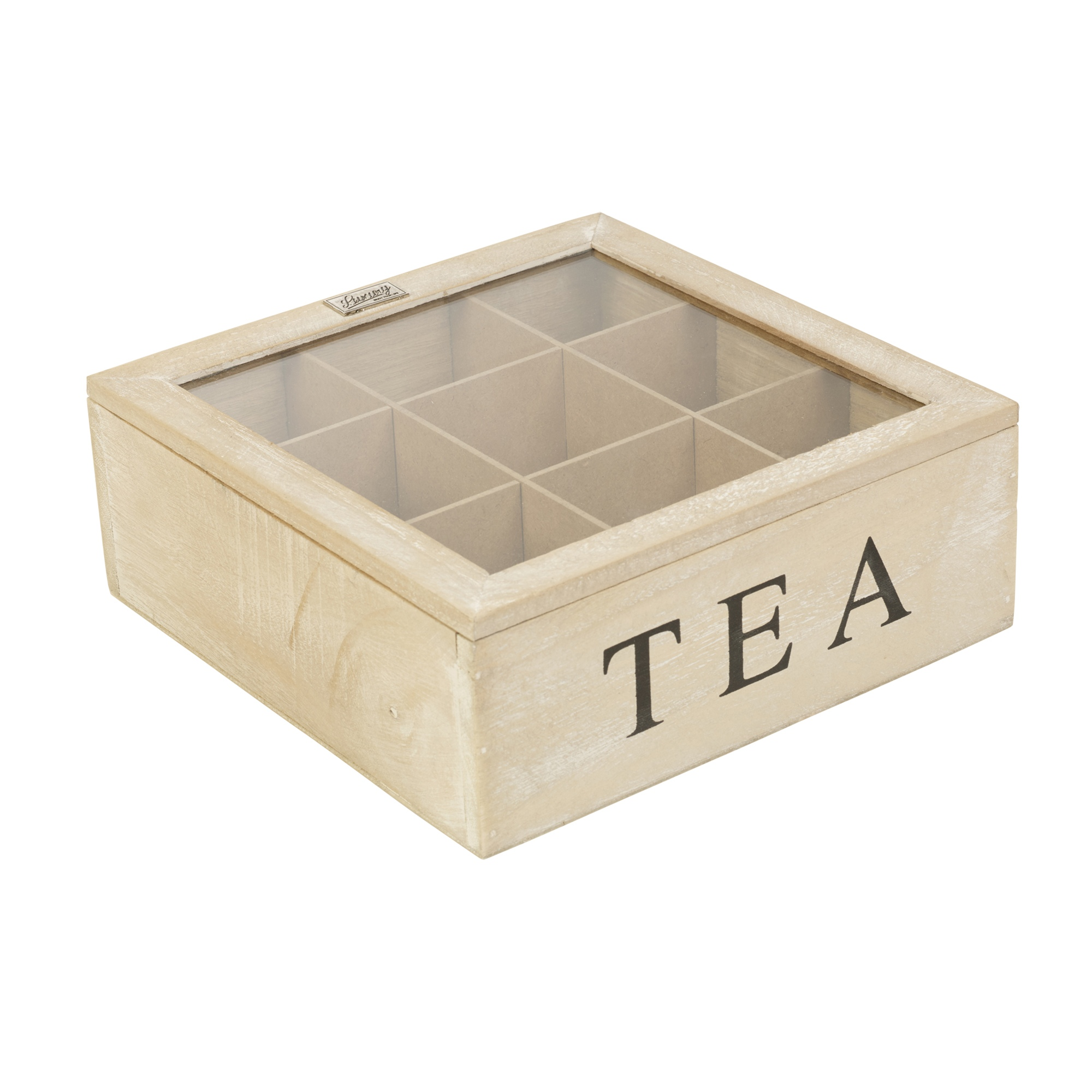 5 6 or 9 compartments wooden tea box hinged lid tea bag storage box kitchen home ebay. Black Bedroom Furniture Sets. Home Design Ideas