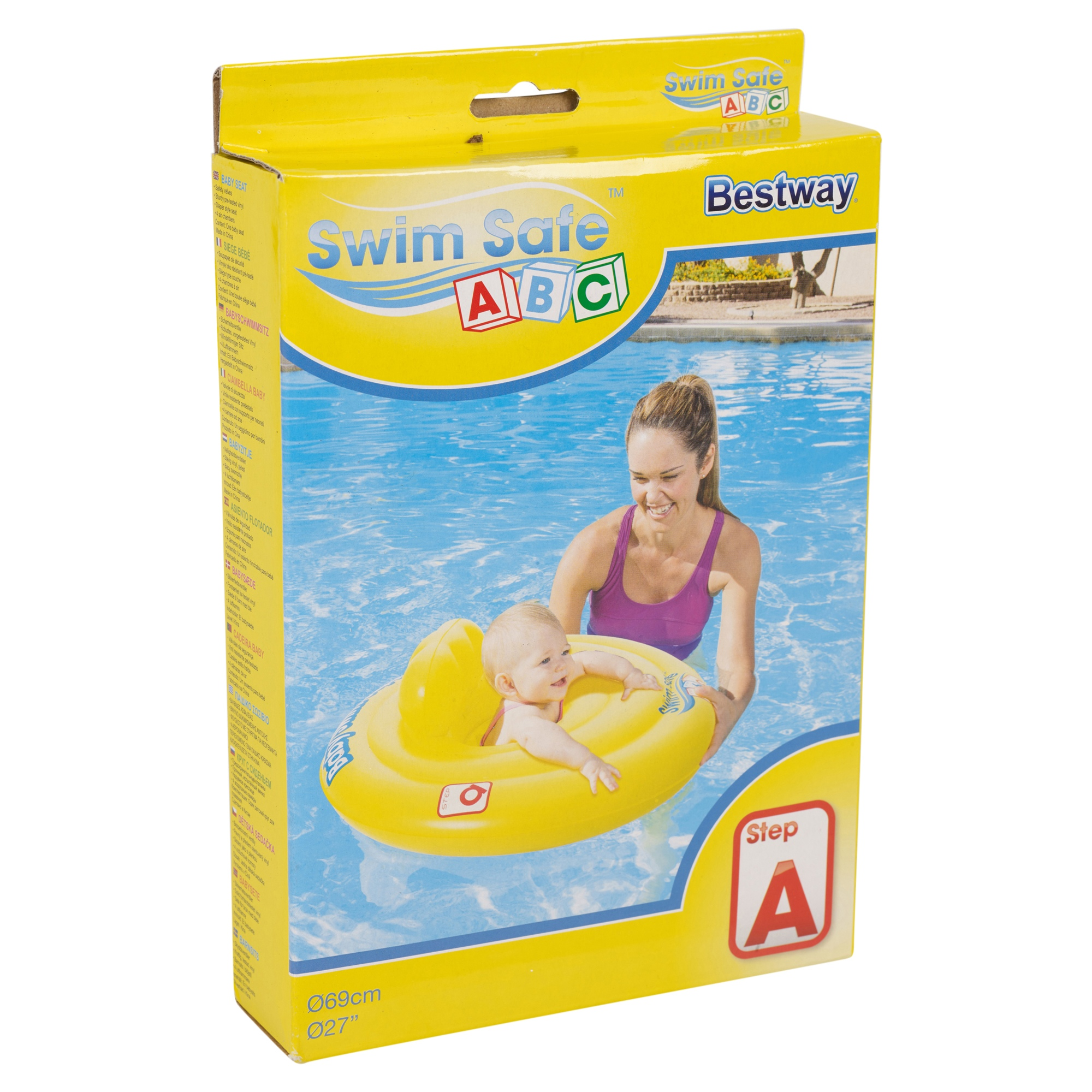 Inflatable baby care seat swim support ring pool aid - Can babies swim in saltwater pools ...