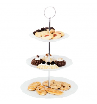 3 Tier Flower Ceramic Cake Stand [987014]