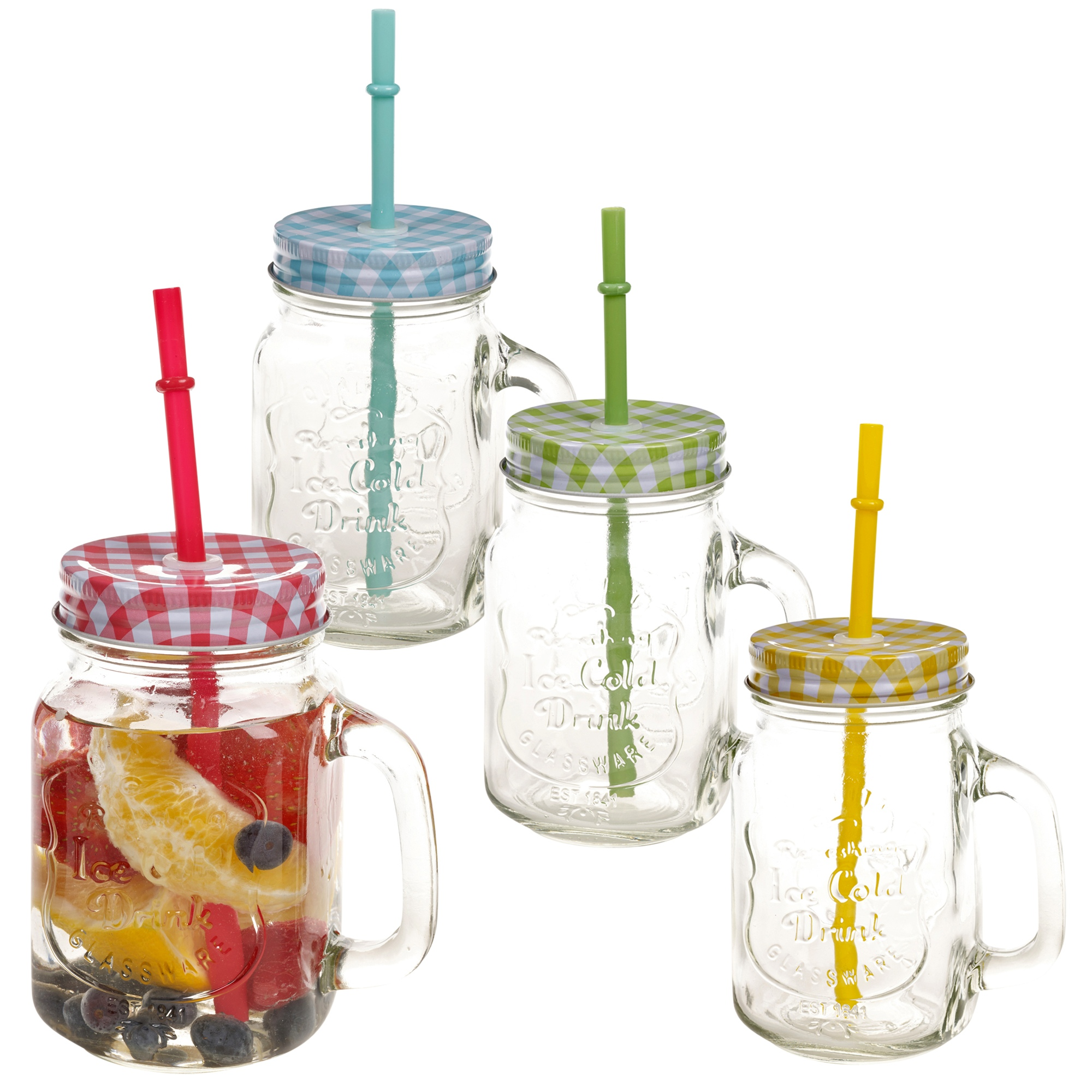 Mason Jar Drinking Glasses Without Handles