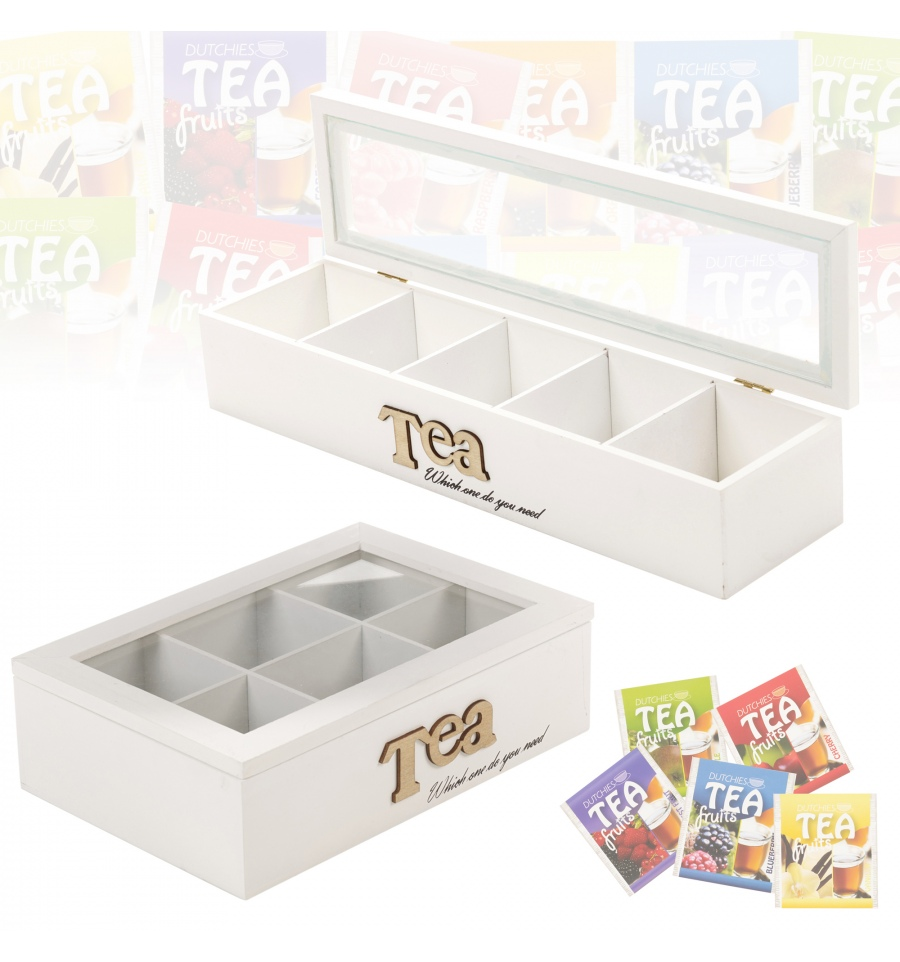 Dinosaurs Mdf Toy Box Childrens Storage Toys Games Books: MDF 5 Section Tea Box White [577573]