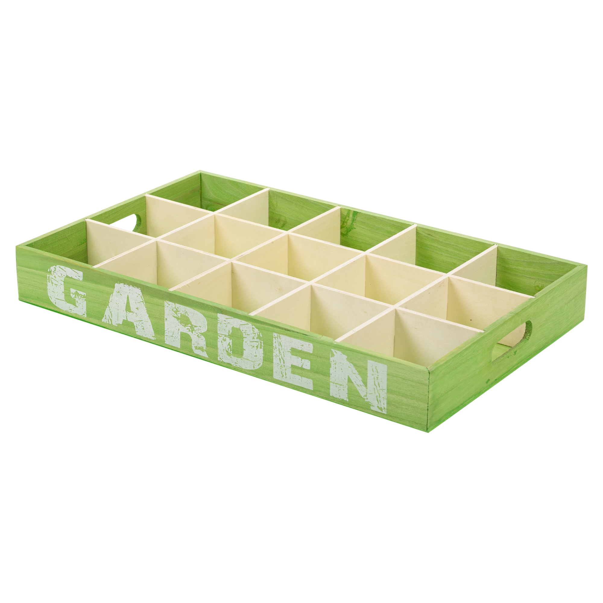 12 Plant Pots Wooden Growing Tray Flowers Herbs Plants