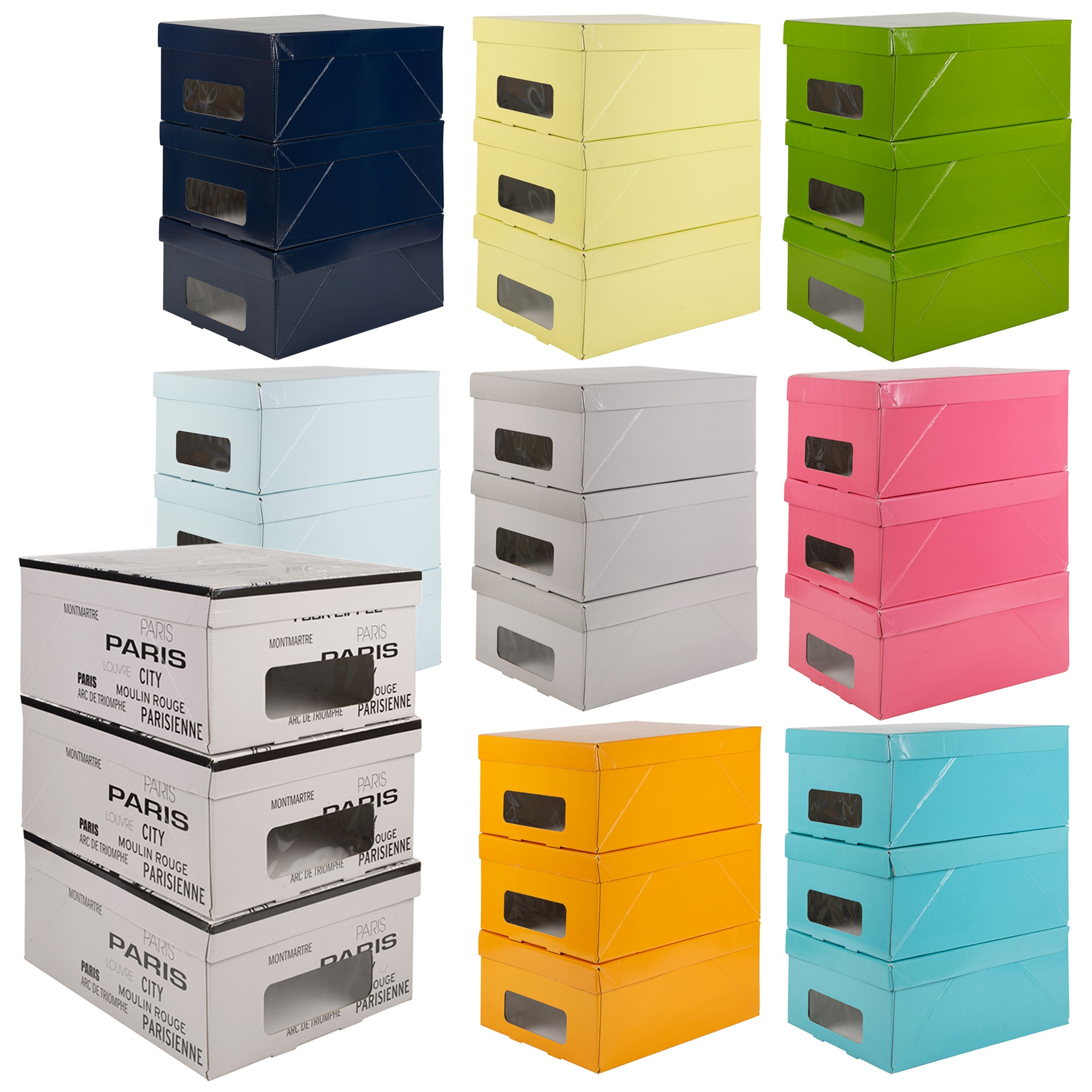 3 Underbed Storage Boxes With Handles Lids Clothes
