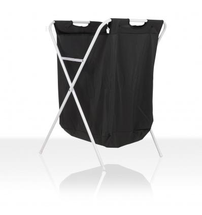 Foldable Black Laundry Basket [34157]