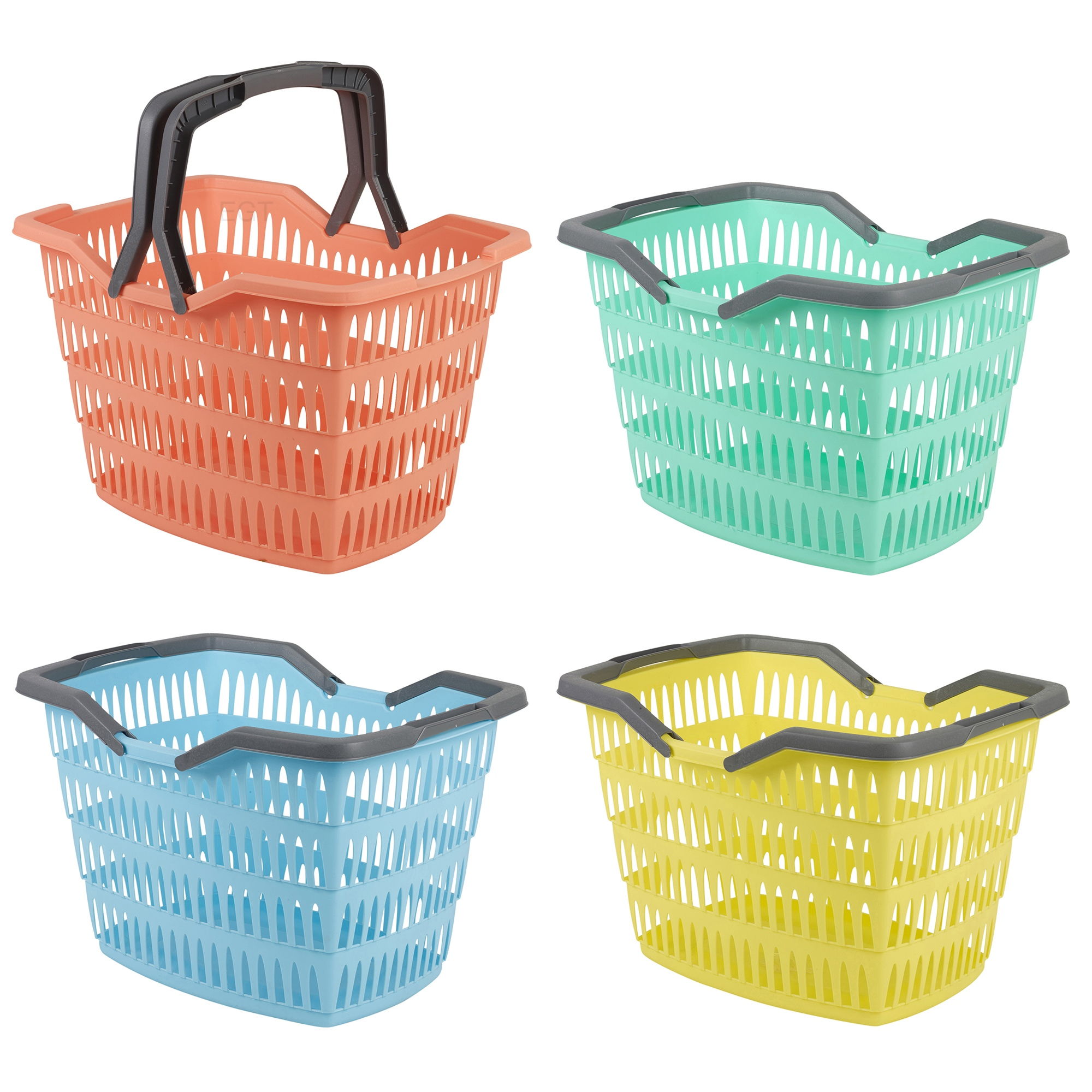 25 Litre Laundry Basket With Folding Handles Storage