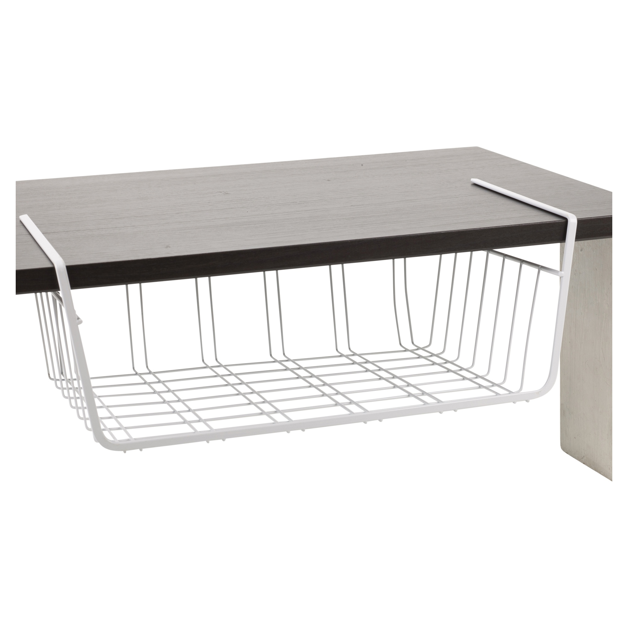 Kitchen Cabinet Baskets: 2 X Under Shelf Table Storage Basket Rack Kitchen Wire
