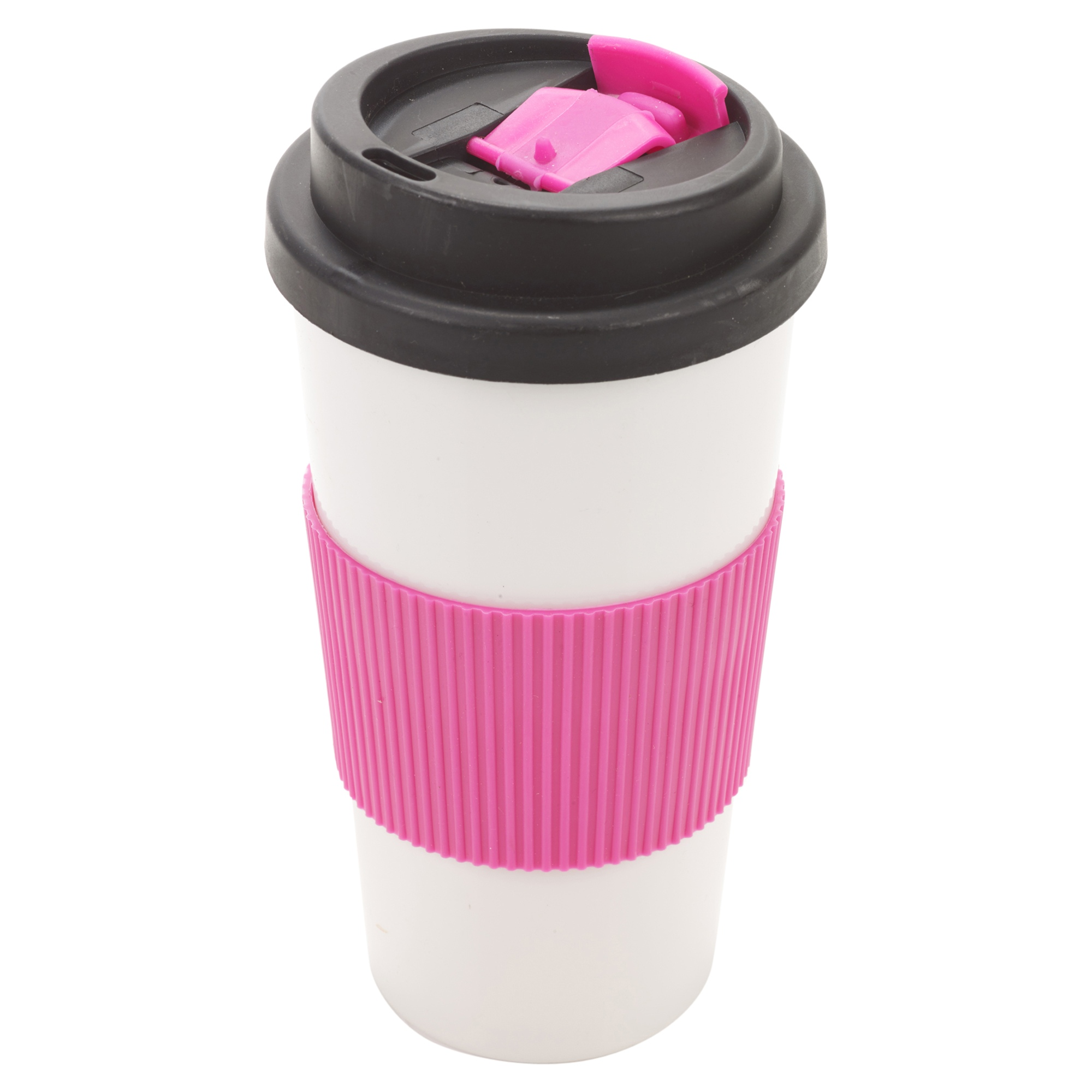 500ml double wall drinking warm cup coffee tea travel thermal mug screw on lid ebay. Black Bedroom Furniture Sets. Home Design Ideas
