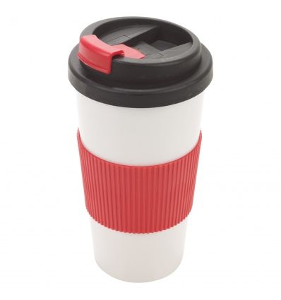 Double Wall Drinking Mug  With Lid [955945]
