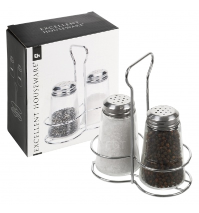 Salt & Pepper Set In Holder [431494]